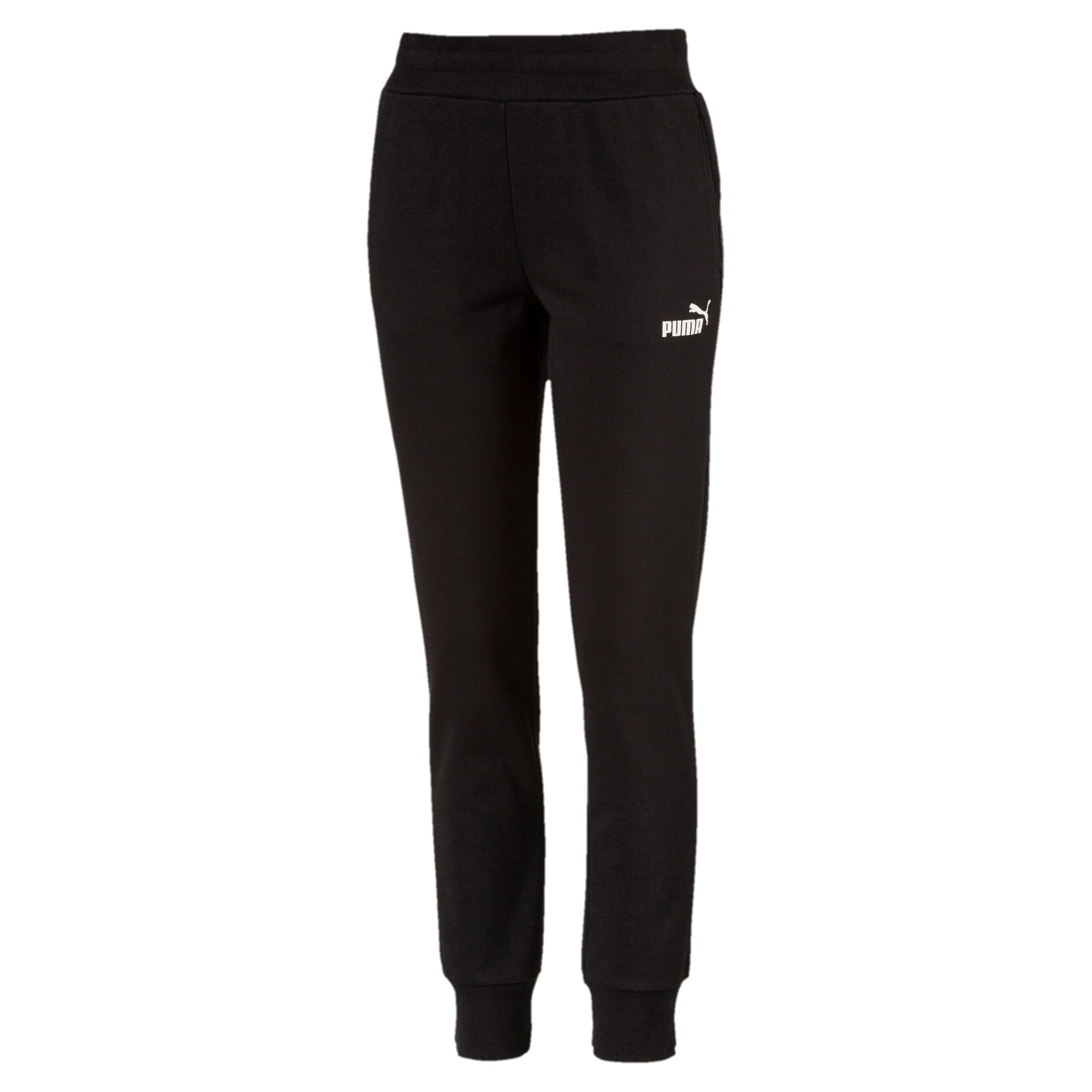 Thumbnail 4 of Essentials Damen Fleece Jogginghose, Cotton Black, medium