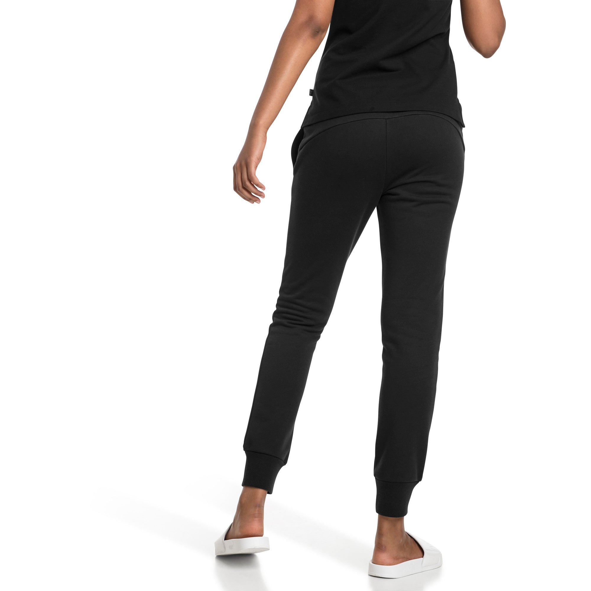 Thumbnail 2 of Essentials Damen Fleece Jogginghose, Cotton Black, medium