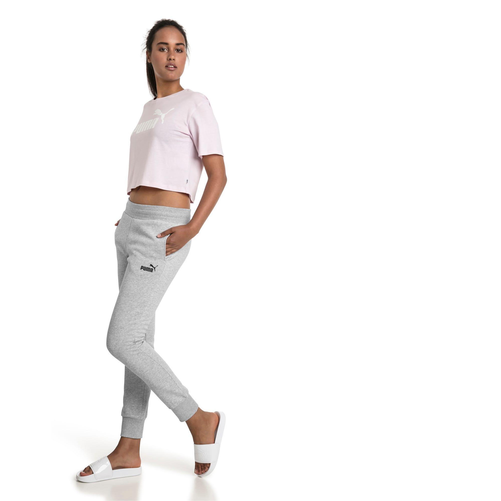 Thumbnail 3 of Essentials Damen Fleece Jogginghose, Light Gray Heather, medium