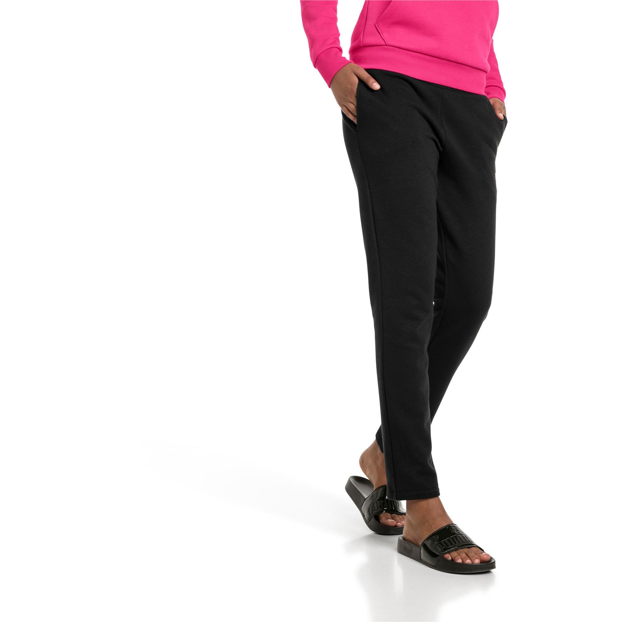 Thumbnail 1 of Essentials Fleece Women's Knitted Pants, Cotton Black, medium
