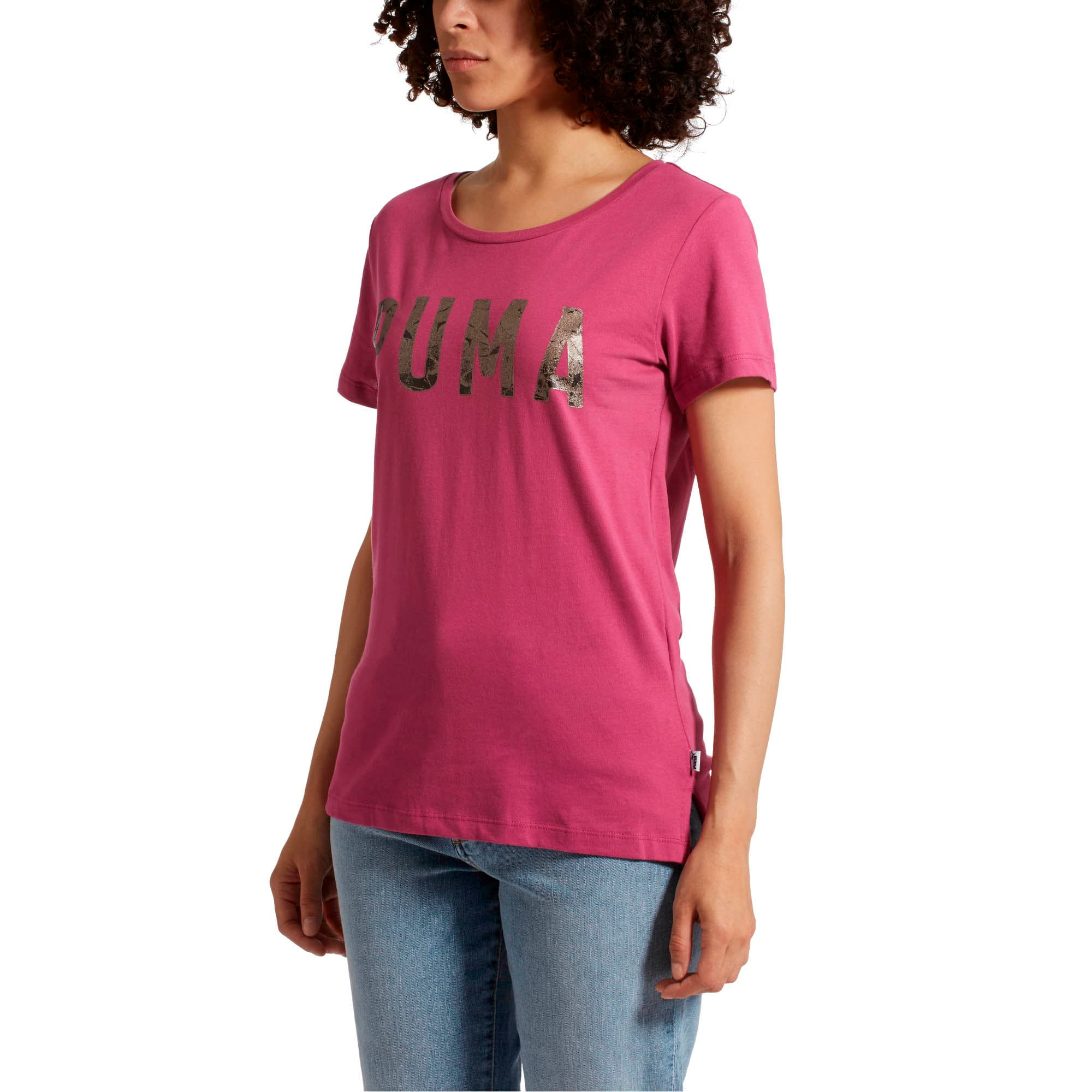 Thumbnail 2 of Athletic Women's Tee, Magenta Haze-Metalic Ash, medium