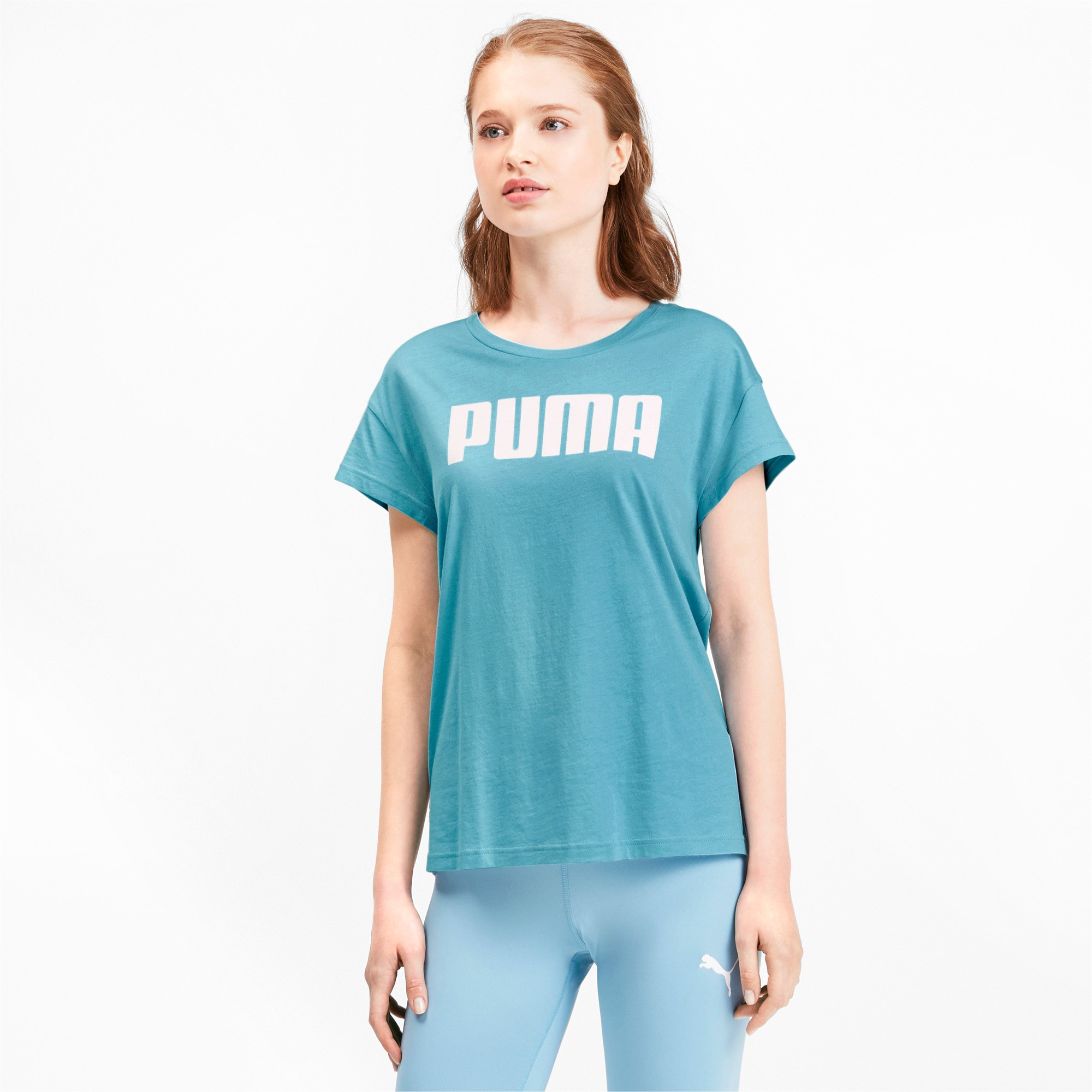 Thumbnail 1 of Active Damen T-Shirt, Milky Blue, medium