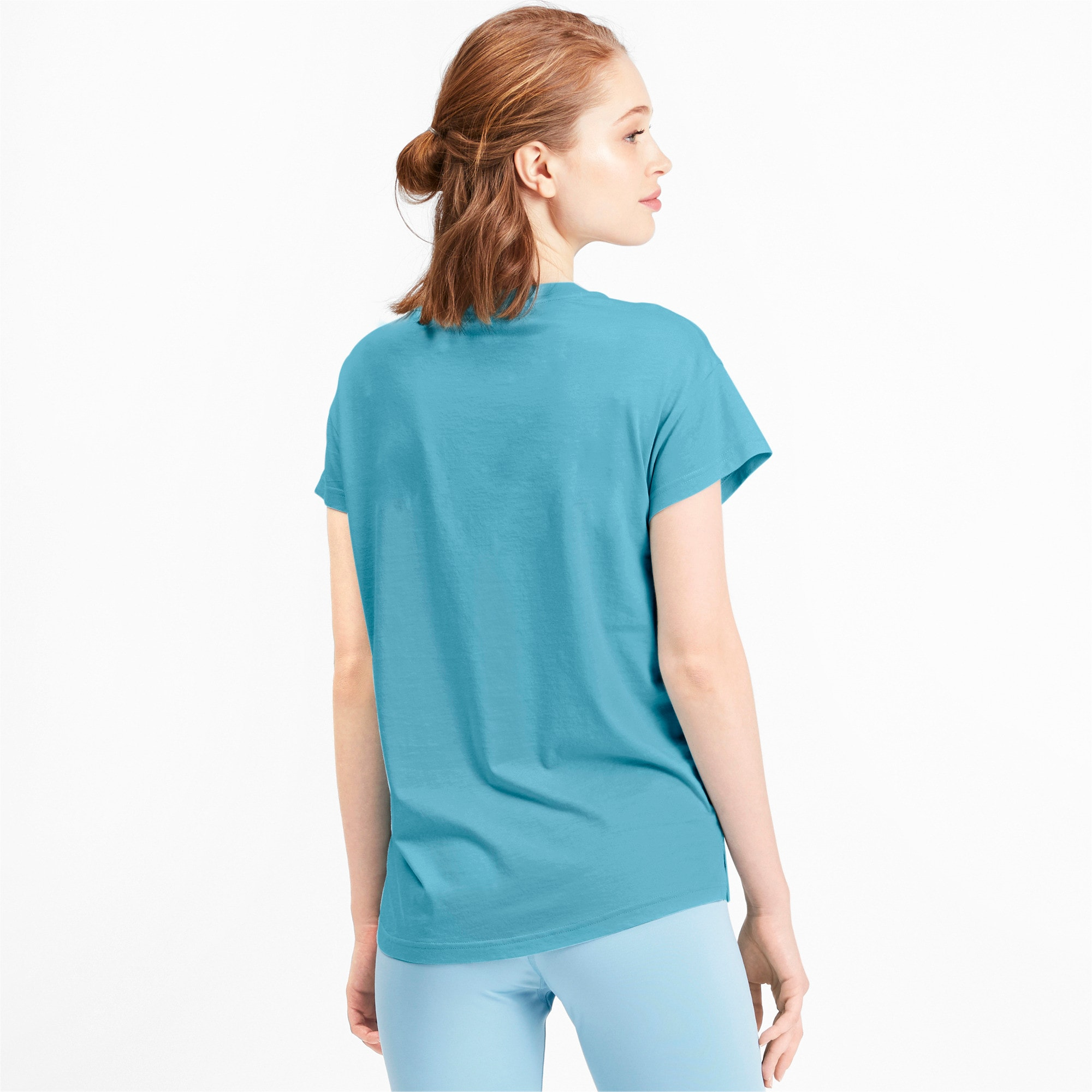 Thumbnail 2 of Active Damen T-Shirt, Milky Blue, medium