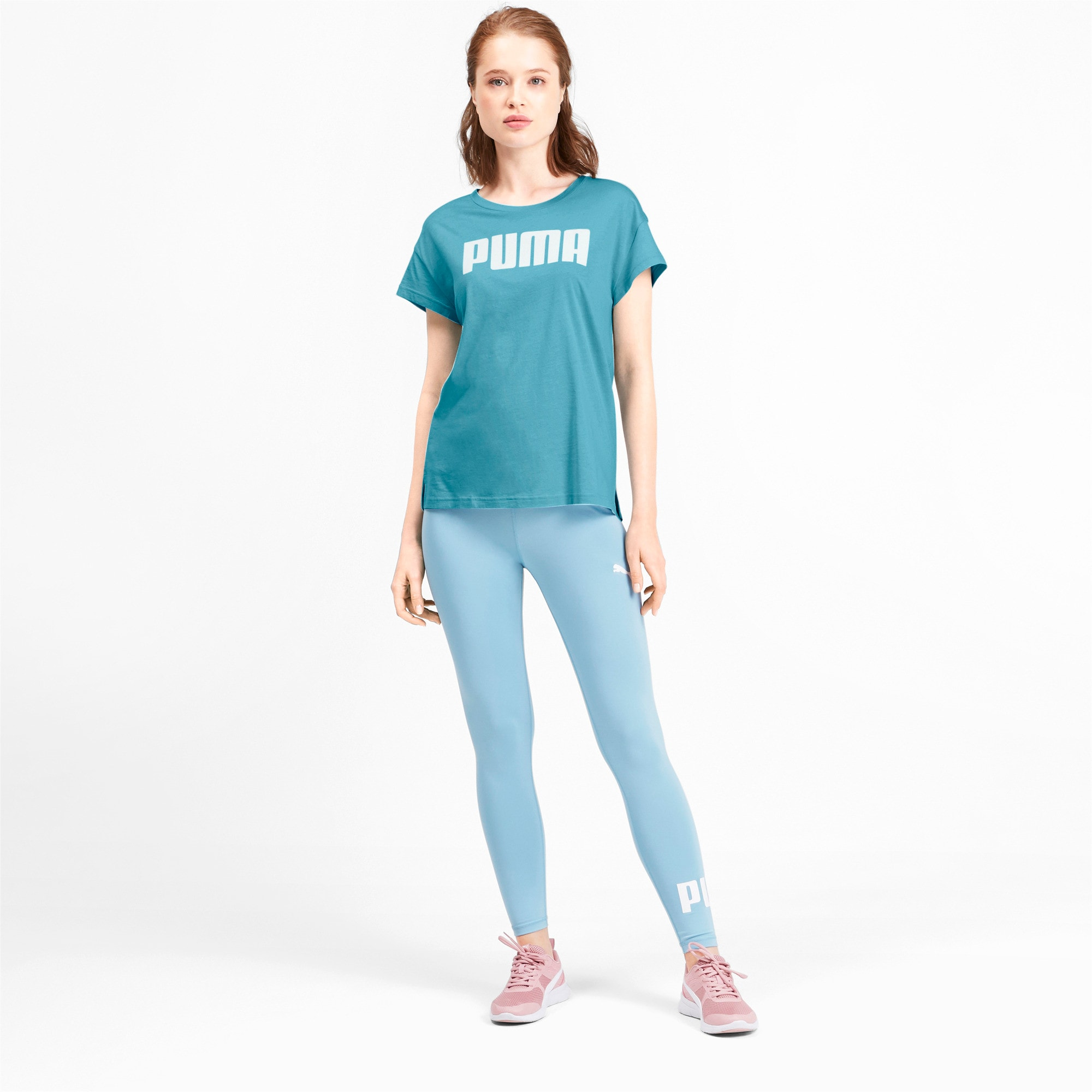 Thumbnail 3 of Active Damen T-Shirt, Milky Blue, medium