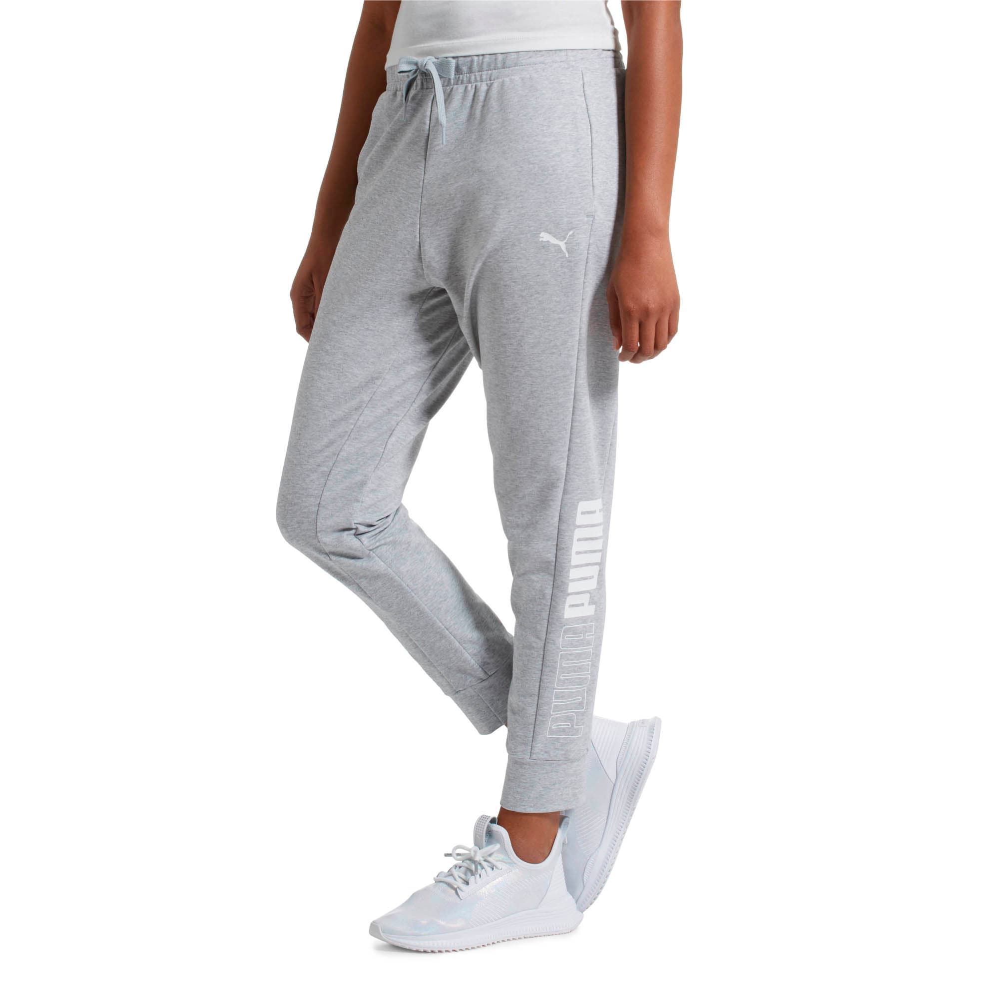 Thumbnail 2 of Modern Sports Women's Track Pants, Light Gray Heather, medium