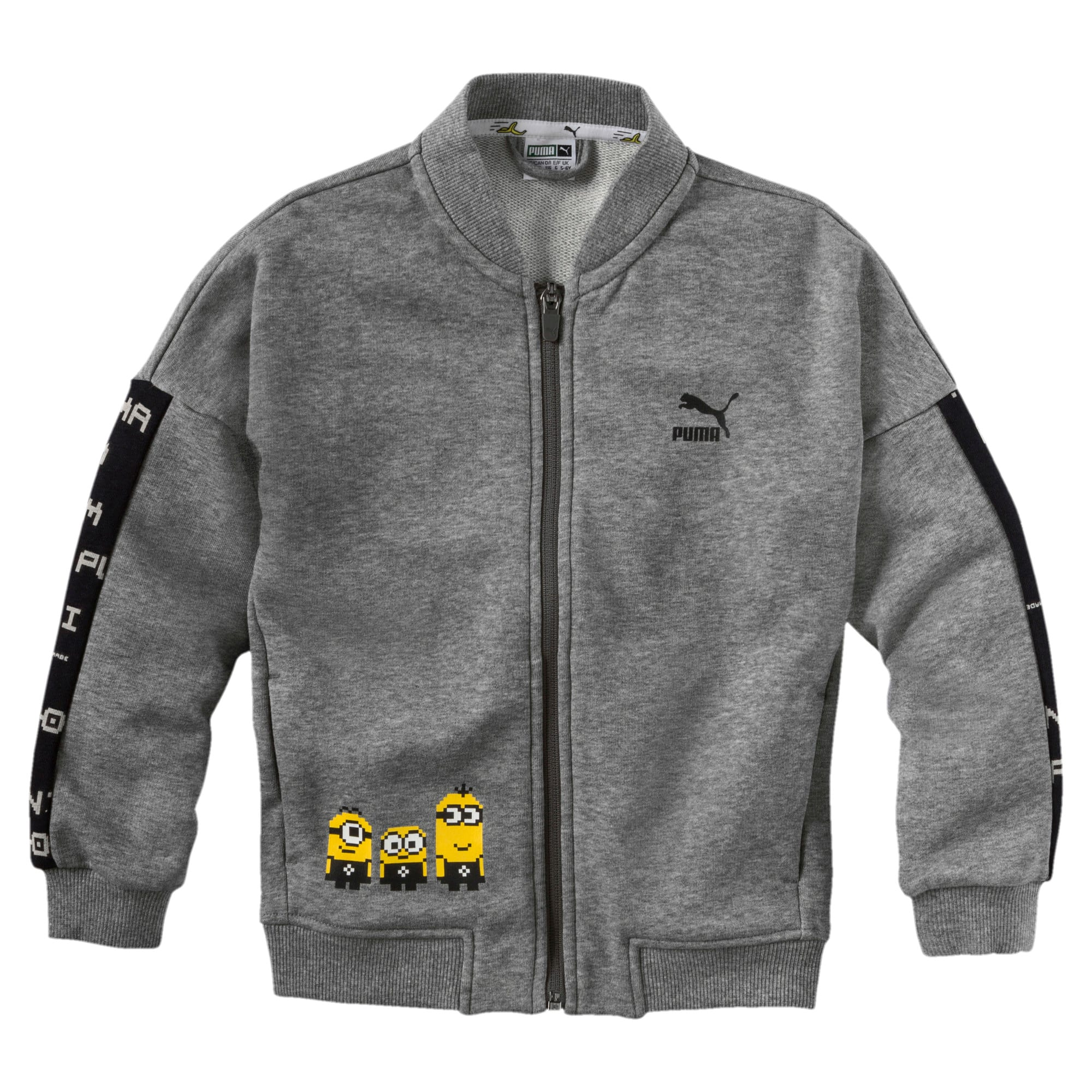 Thumbnail 1 of PUMA x MINIONS Boys' Bomber Jacket JR, Medium Gray Heather, medium