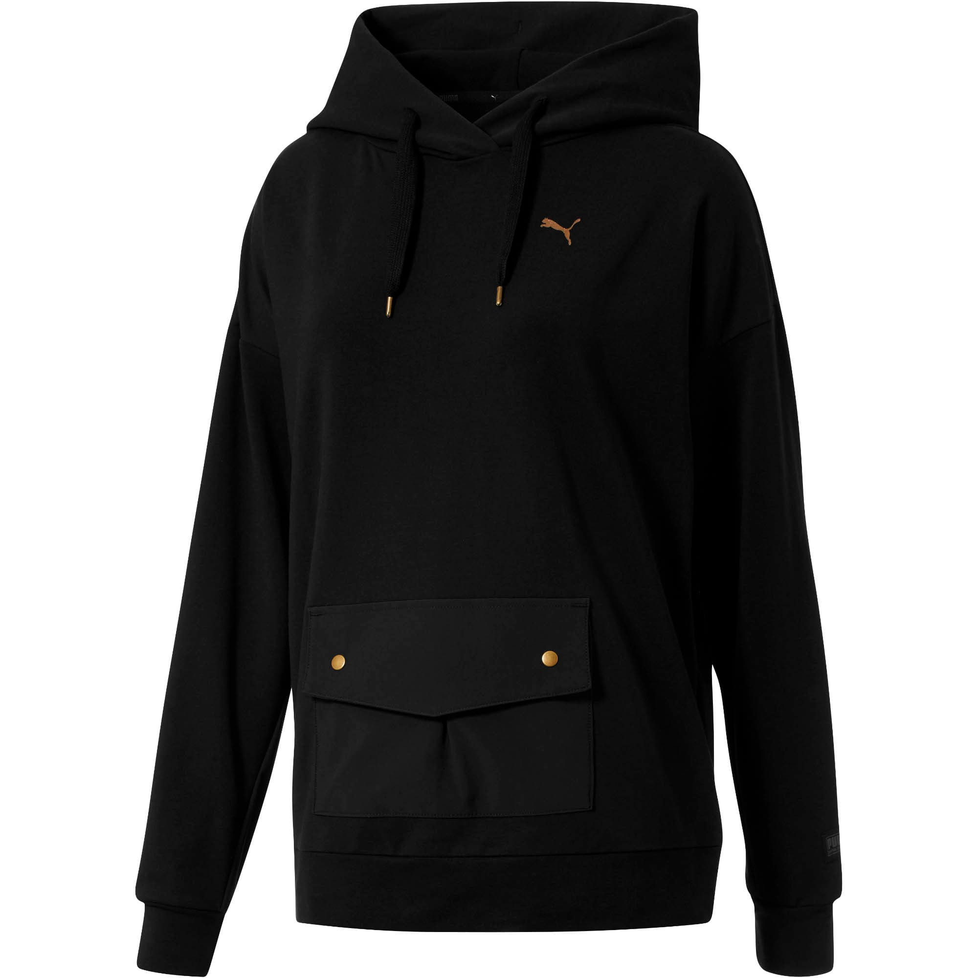 FUSION Hoodie, Cotton Black, large