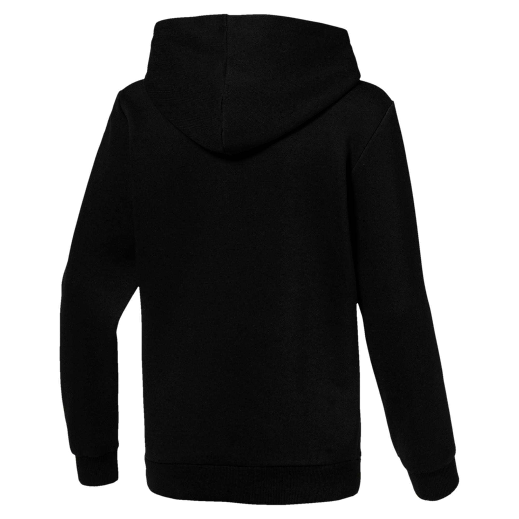Thumbnail 2 of Essentials Boys' Hoodie, Cotton Black, medium