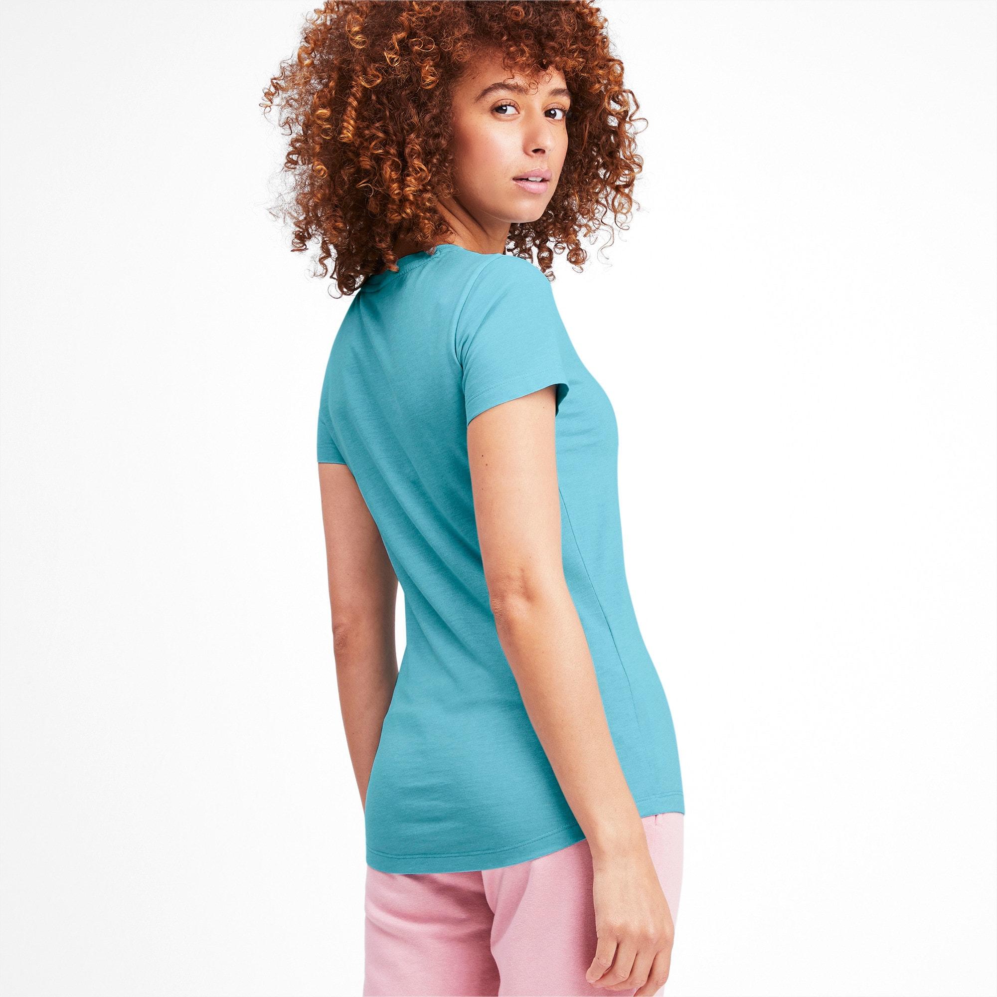 Miniatura 3 de Camsieta Essentials + Heather de mujer, Milky Blue, mediano