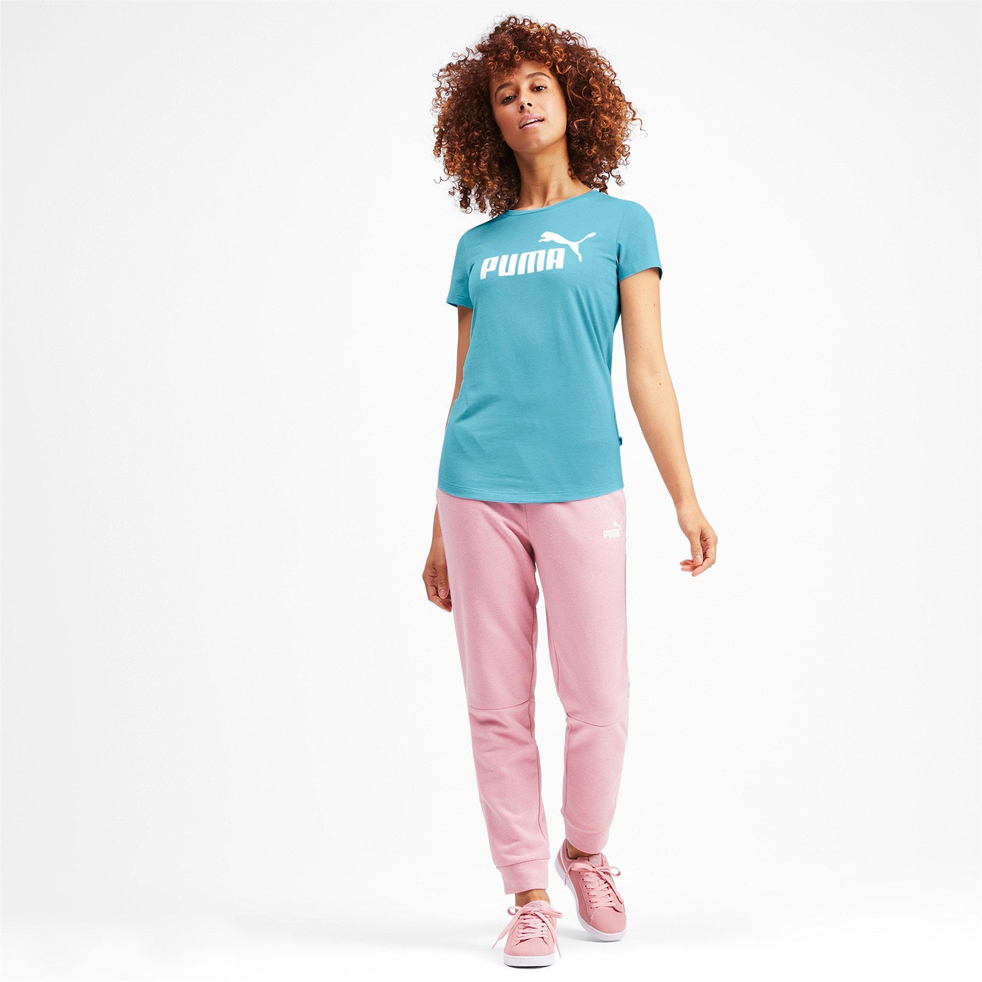 Miniatura 4 de Camsieta Essentials + Heather de mujer, Milky Blue, mediano