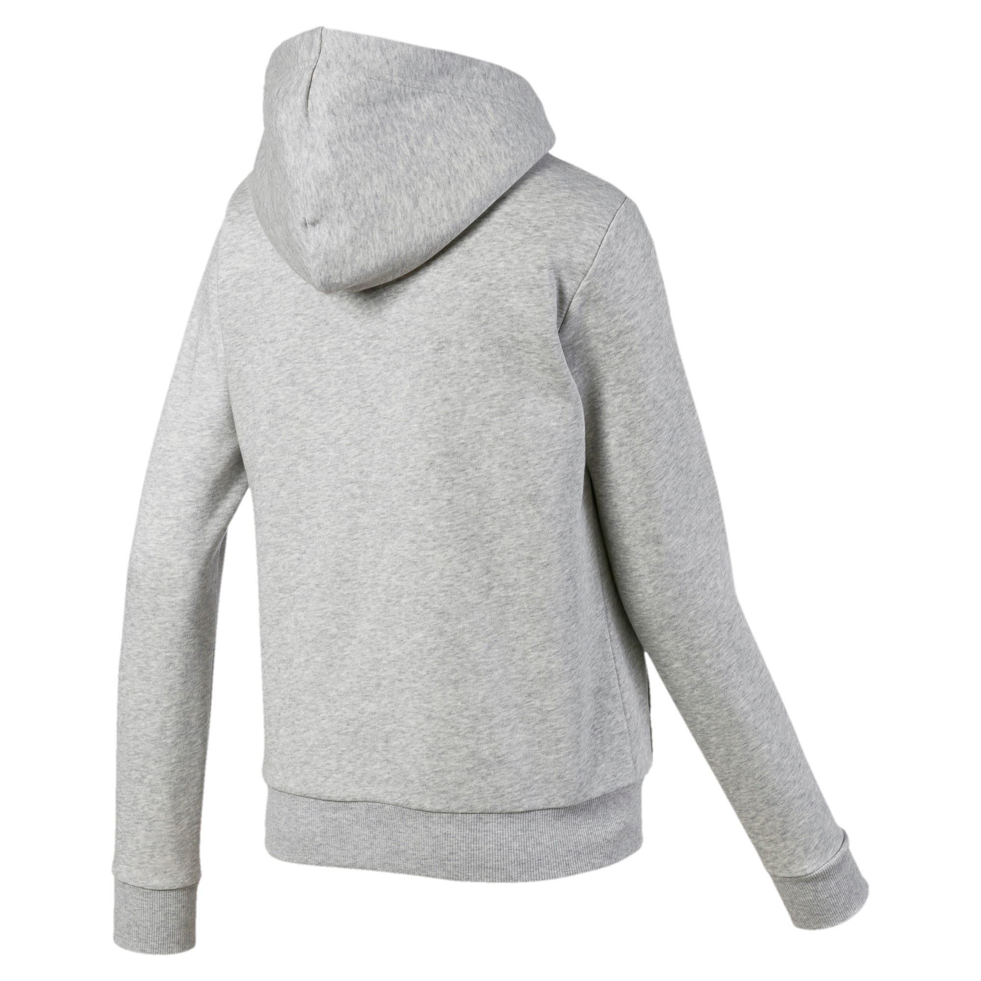 Thumbnail 5 of Essentials Sherpa Hooded Women's Jacket, Light Gray Heather, medium