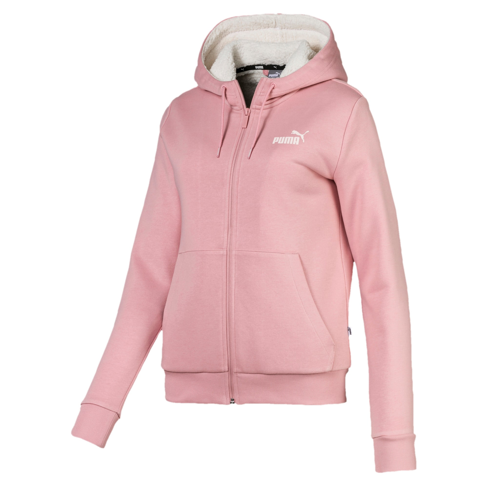 Thumbnail 4 of Essentials Sherpa Damen Kapuzenjacke, Bridal Rose, medium