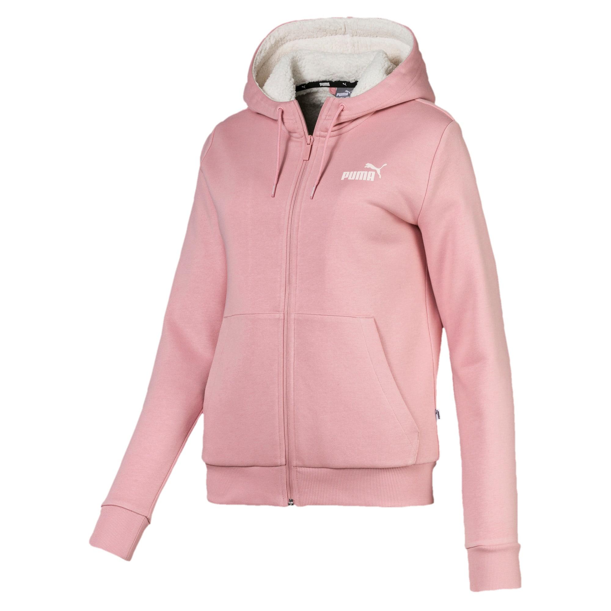 Thumbnail 4 of Essentials Sherpa Hooded Women's Jacket, Bridal Rose, medium