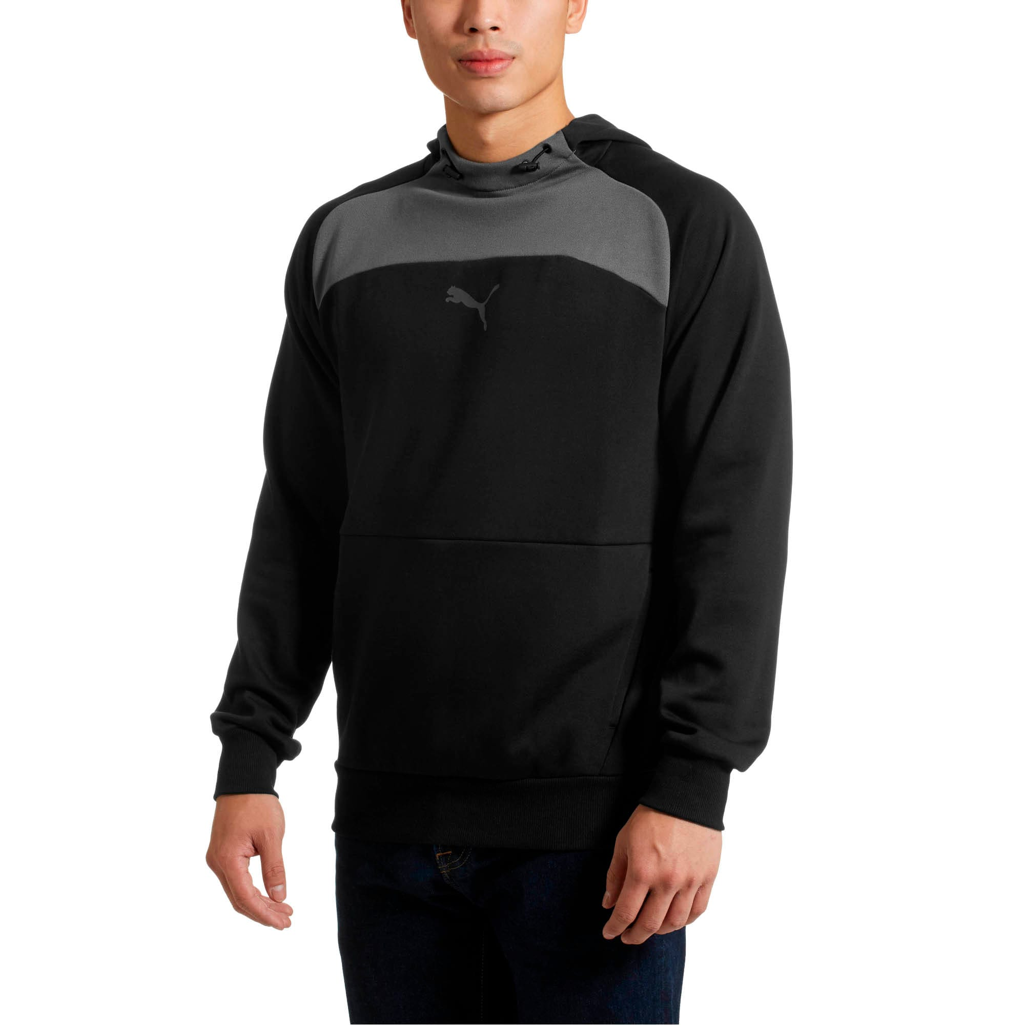 Thumbnail 2 of Modern Sports Hoodie, Cotton Black, medium