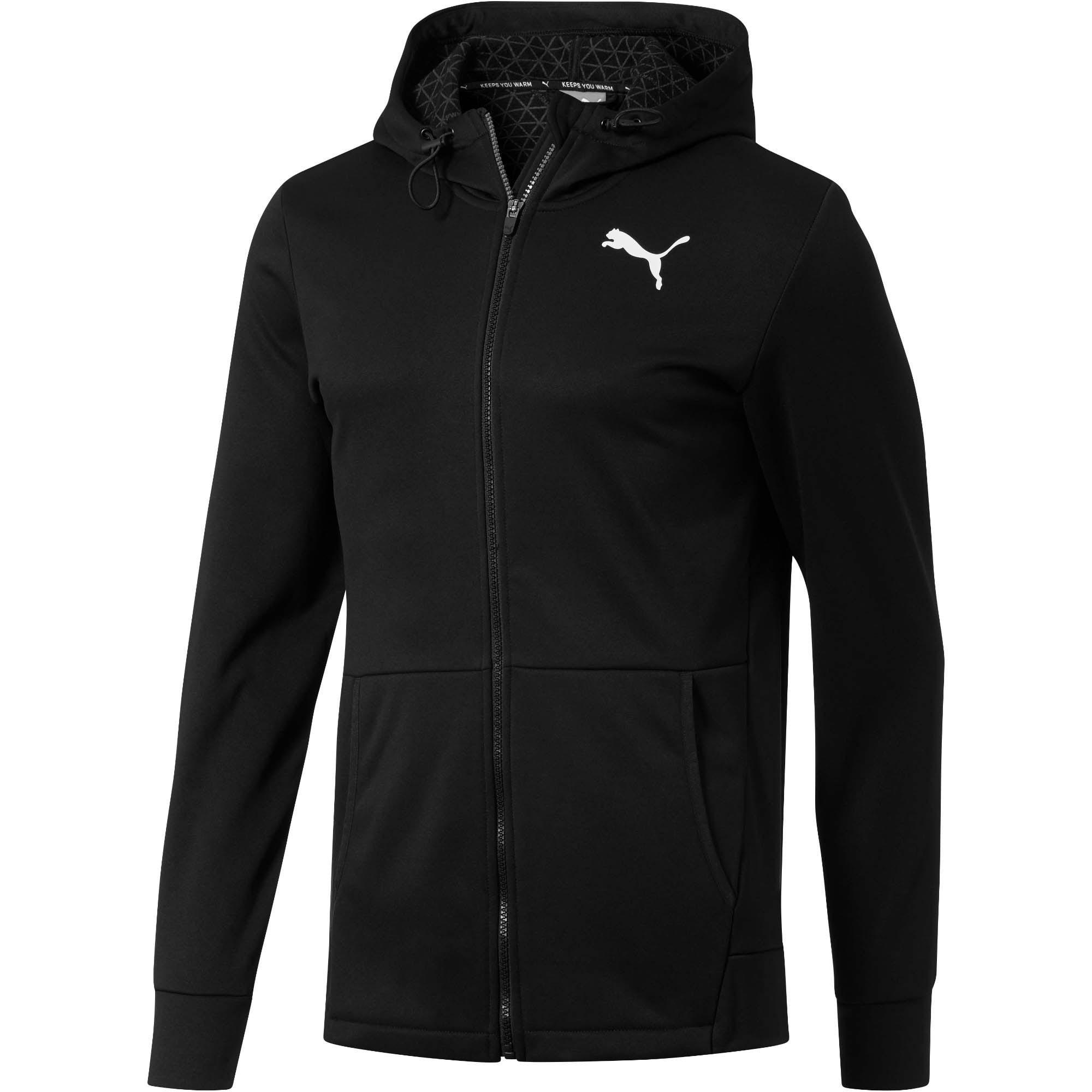 Thumbnail 1 of Tec Sports Warm Full-Zip Hoodie, Puma Black, medium