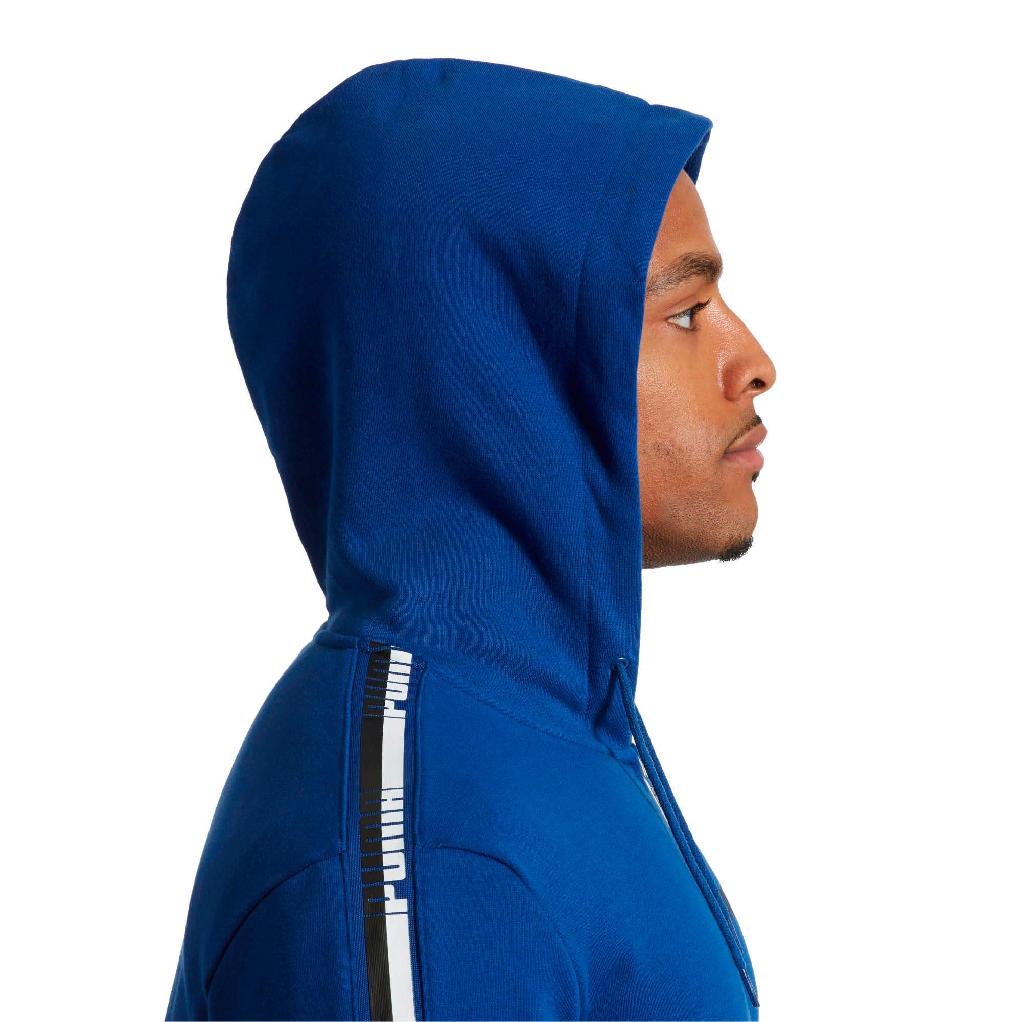 Thumbnail 4 of Men's Tape Full Zip Fleece Hoodie, Sodalite Blue, medium