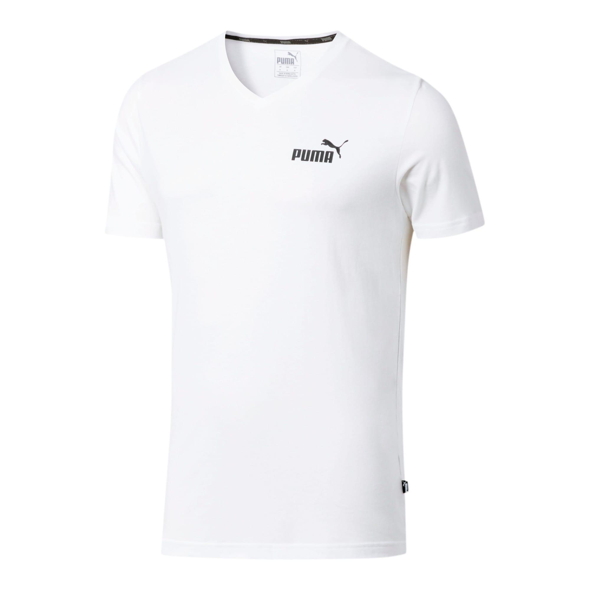 Miniatura 2 de Camiseta Essentials+con cuello en V para hombre, Puma White, mediano