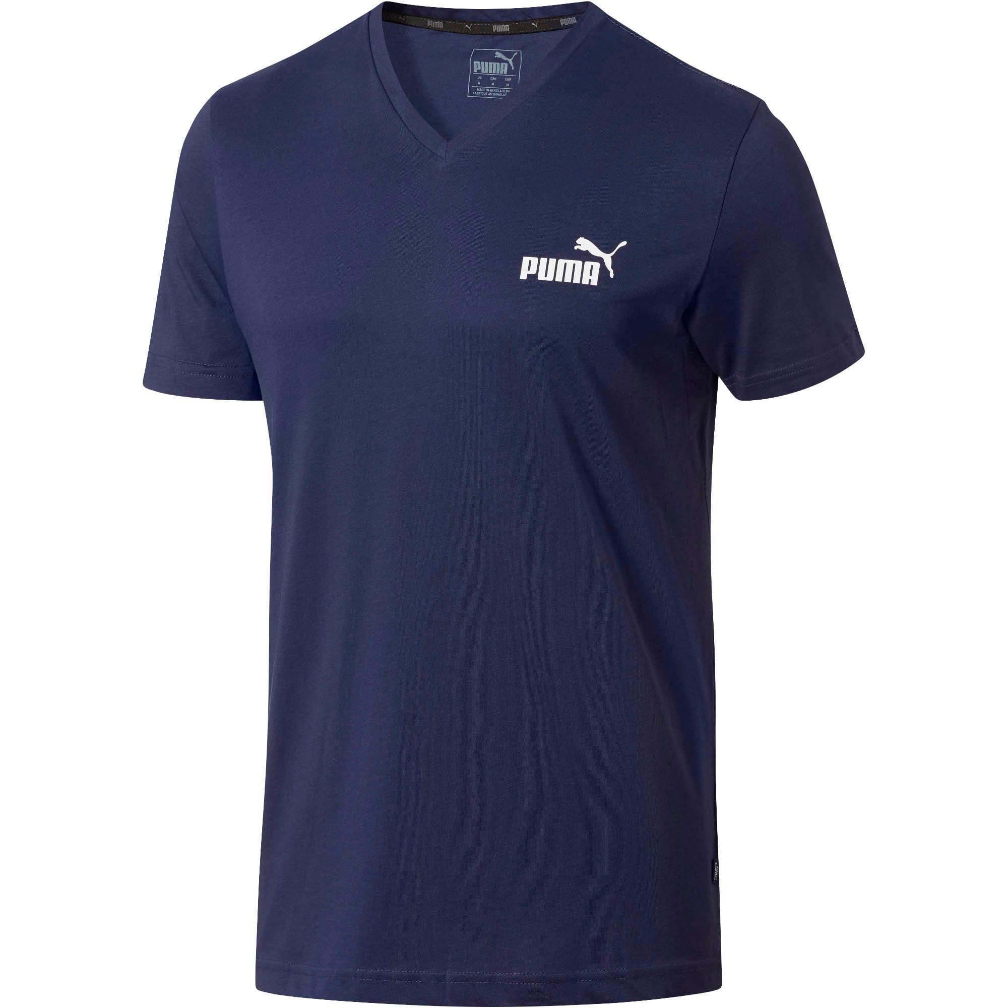 Miniatura 2 de Camiseta Essentials+con cuello en V para hombre, Peacoat, mediano