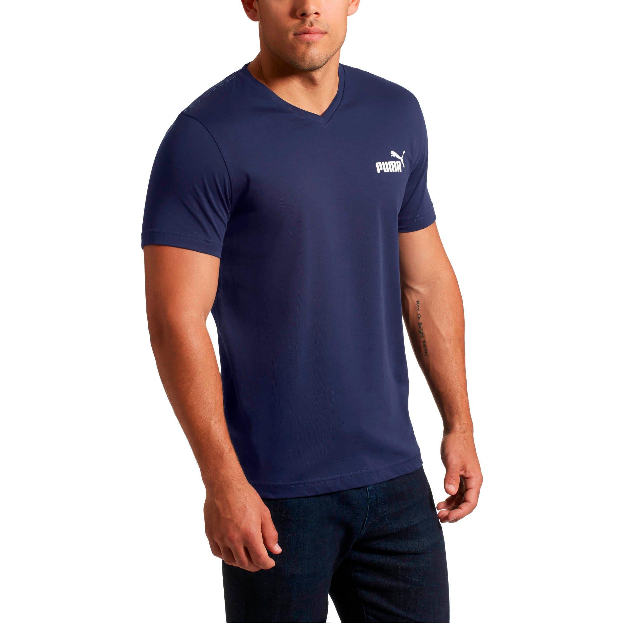Miniatura 1 de Camiseta Essentials+con cuello en V para hombre, Peacoat, mediano