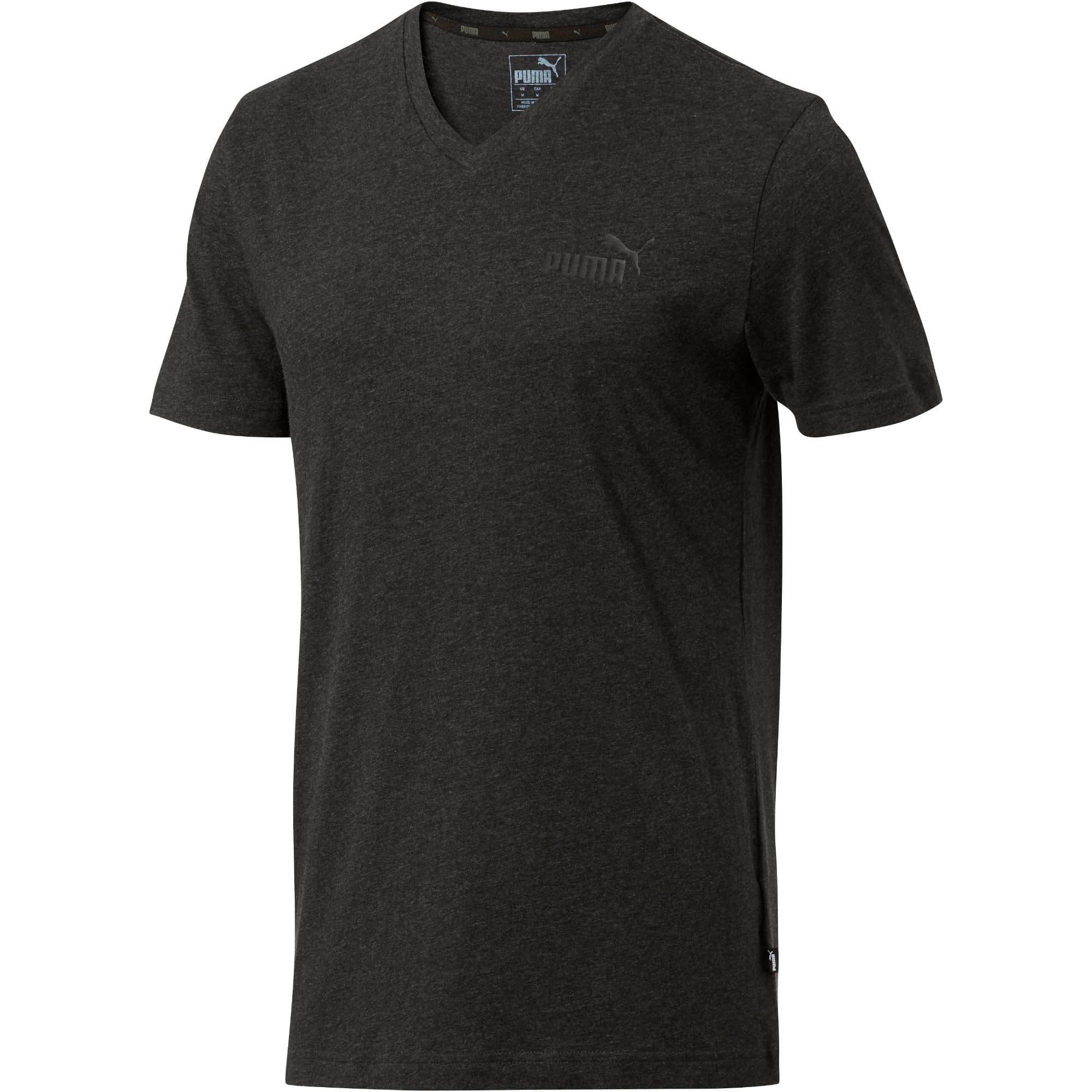 Miniatura 1 de Camiseta Essentials+con cuello en V para hombre, Dark Gray Heather, mediano