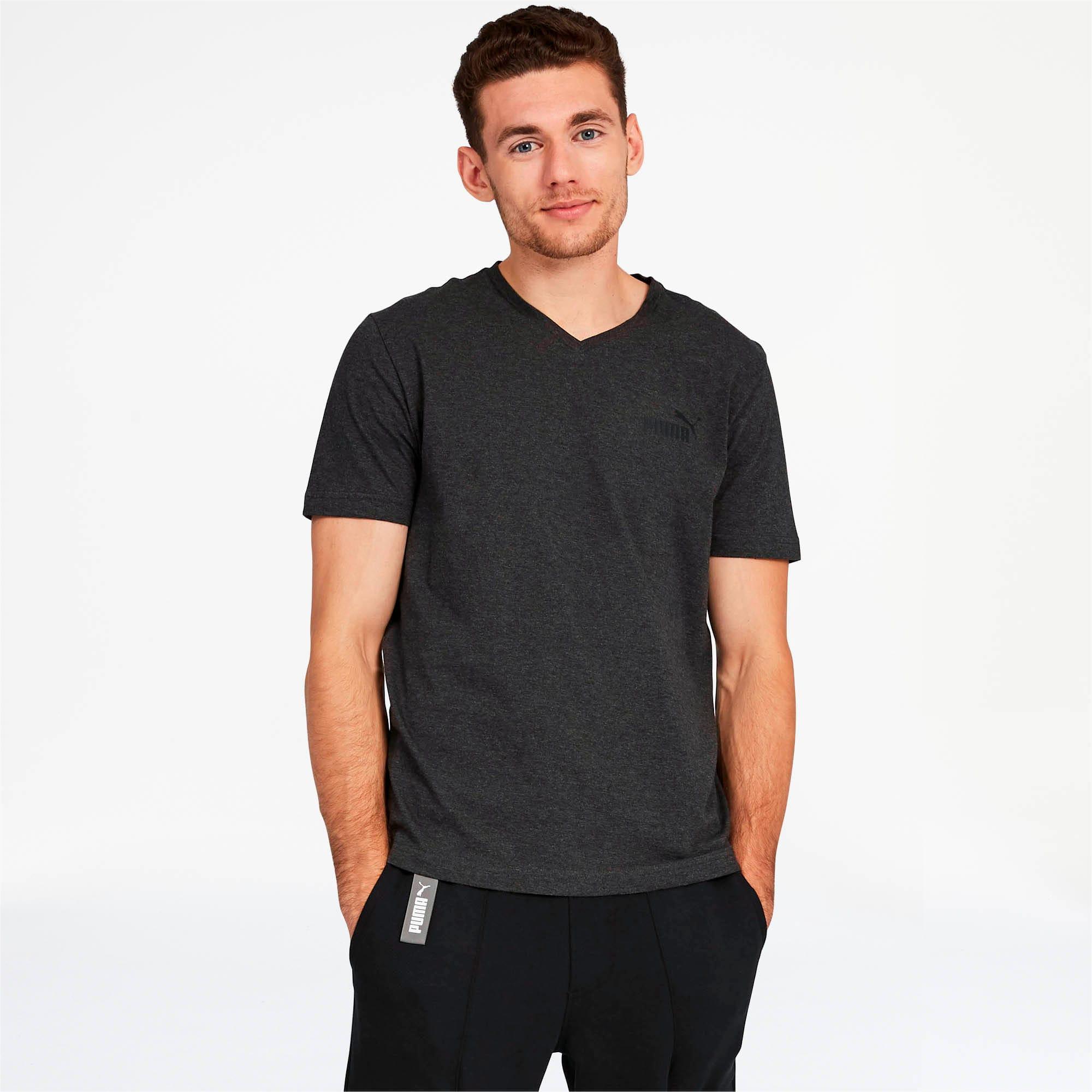 Miniatura 2 de Camiseta Essentials+con cuello en V para hombre, Dark Gray Heather, mediano