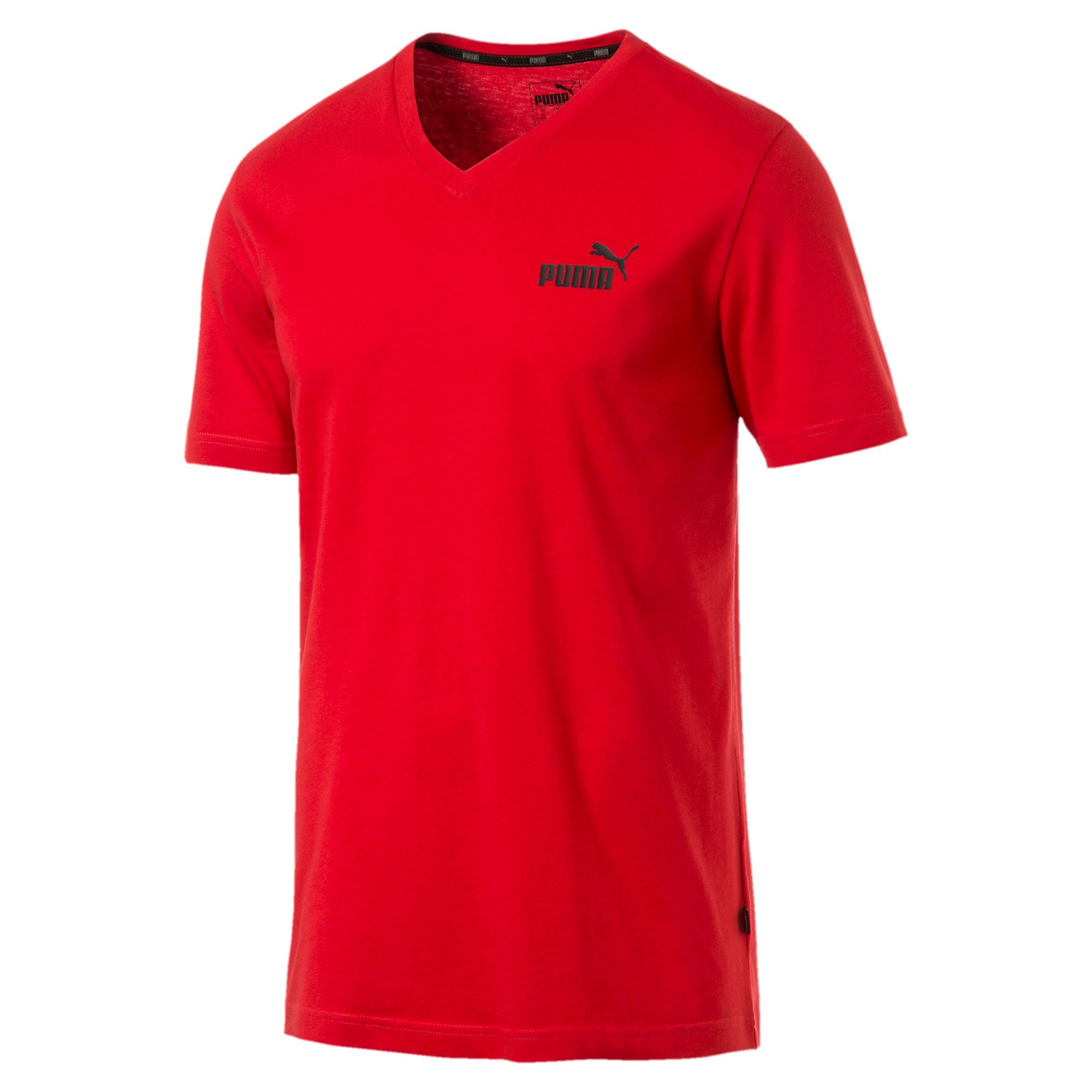 Miniatura 1 de Camiseta Essentials+con cuello en V para hombre, High Risk Red, mediano