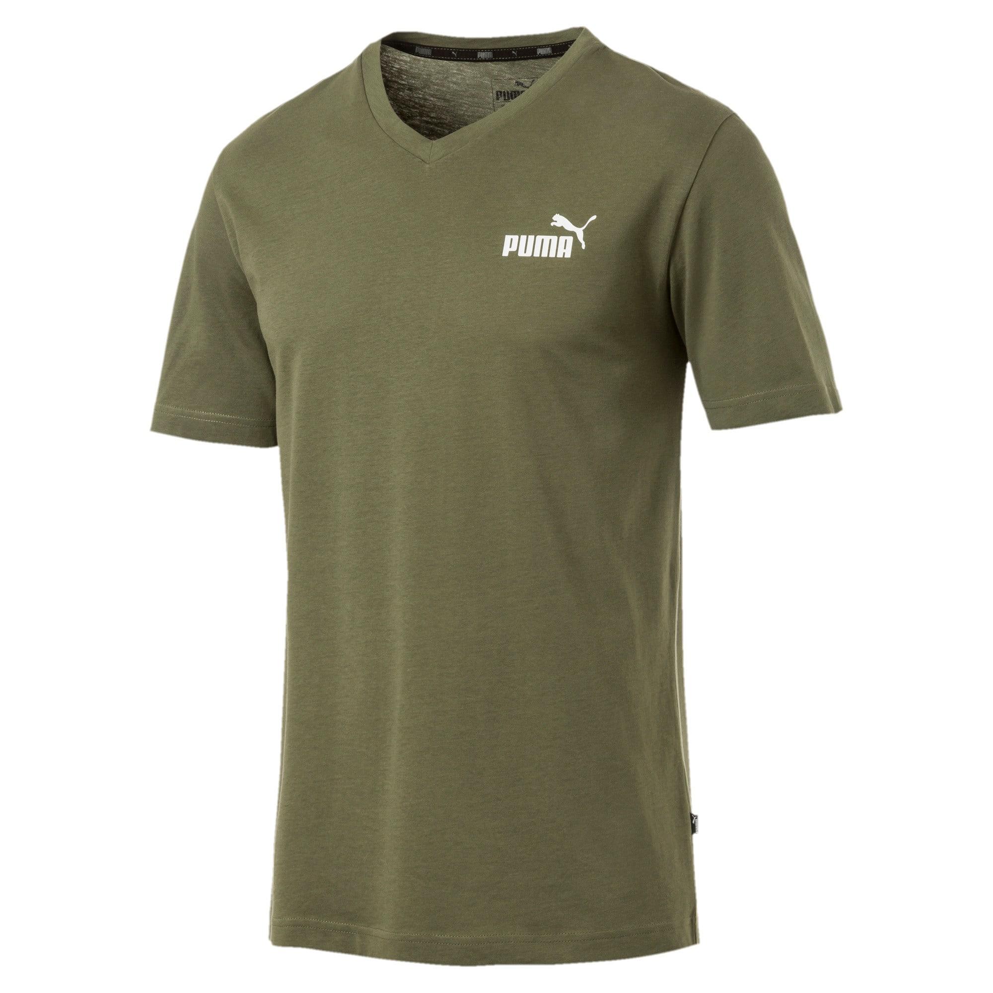 Miniatura 1 de Camiseta Essentials+con cuello en V para hombre, Olivine, mediano
