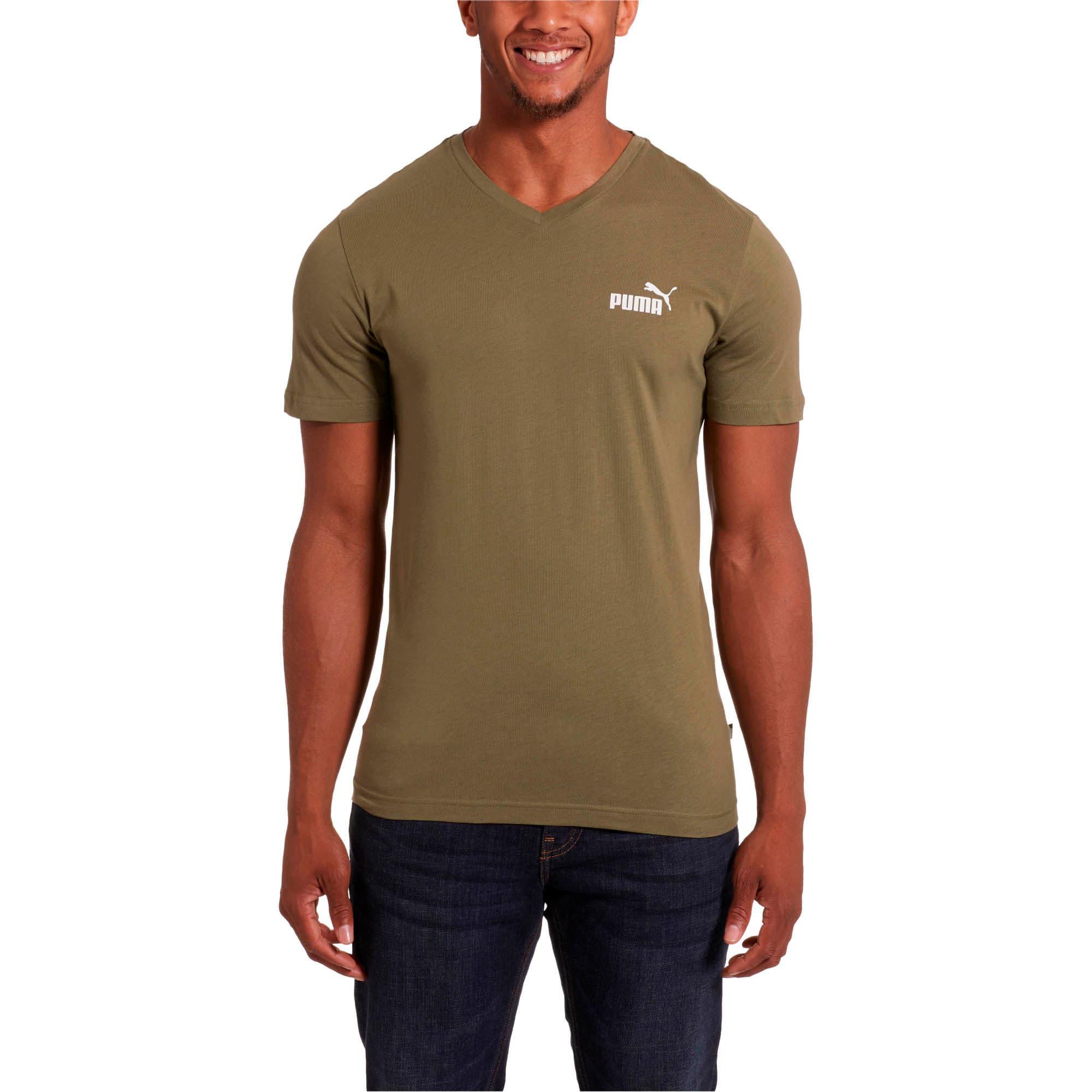 Miniatura 2 de Camiseta Essentials+con cuello en V para hombre, Olivine, mediano