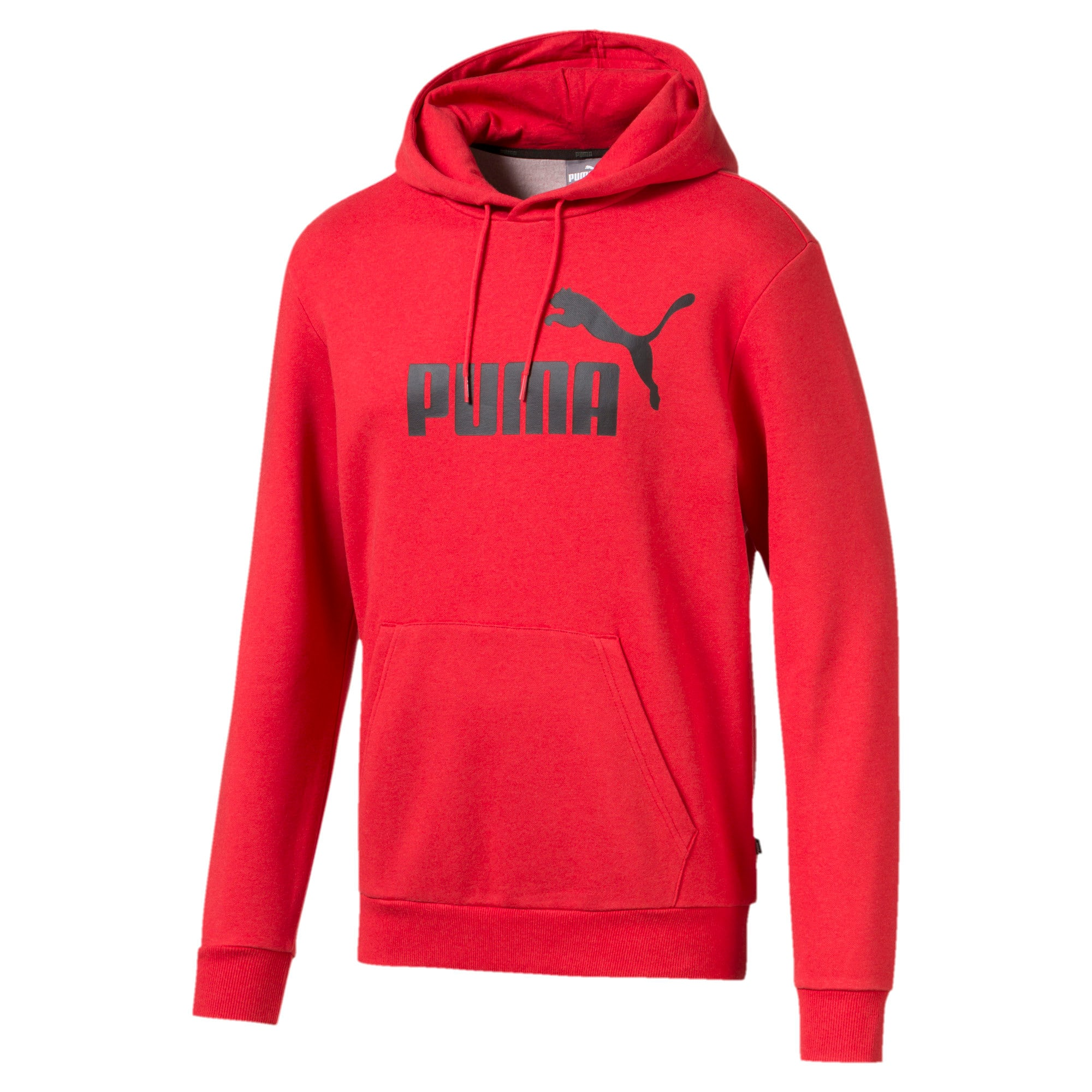 Thumbnail 4 of Essentials Fleece Men's Hoodie, High Risk Red Heather, medium