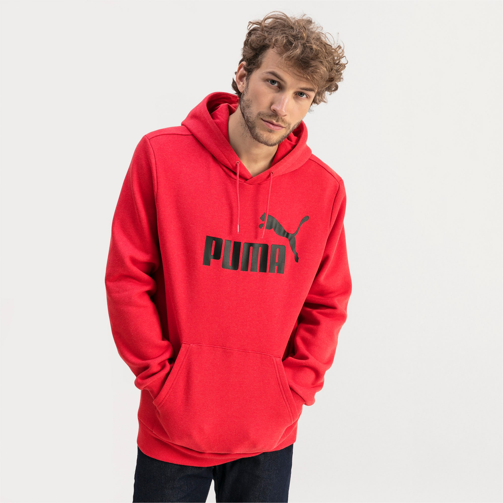 Thumbnail 1 of Essentials Fleece Men's Hoodie, High Risk Red Heather, medium