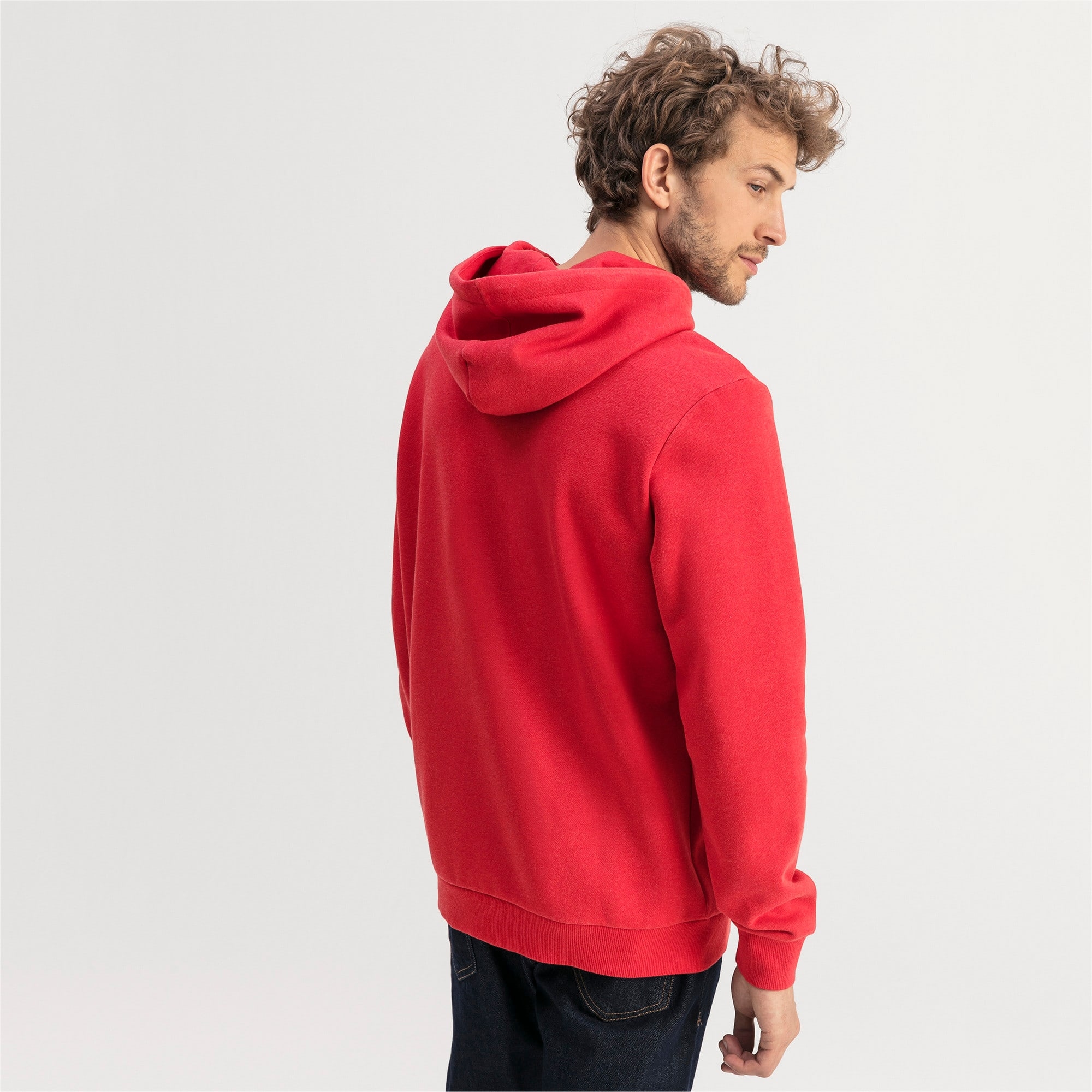 Thumbnail 2 of Essentials Fleece Men's Hoodie, High Risk Red Heather, medium