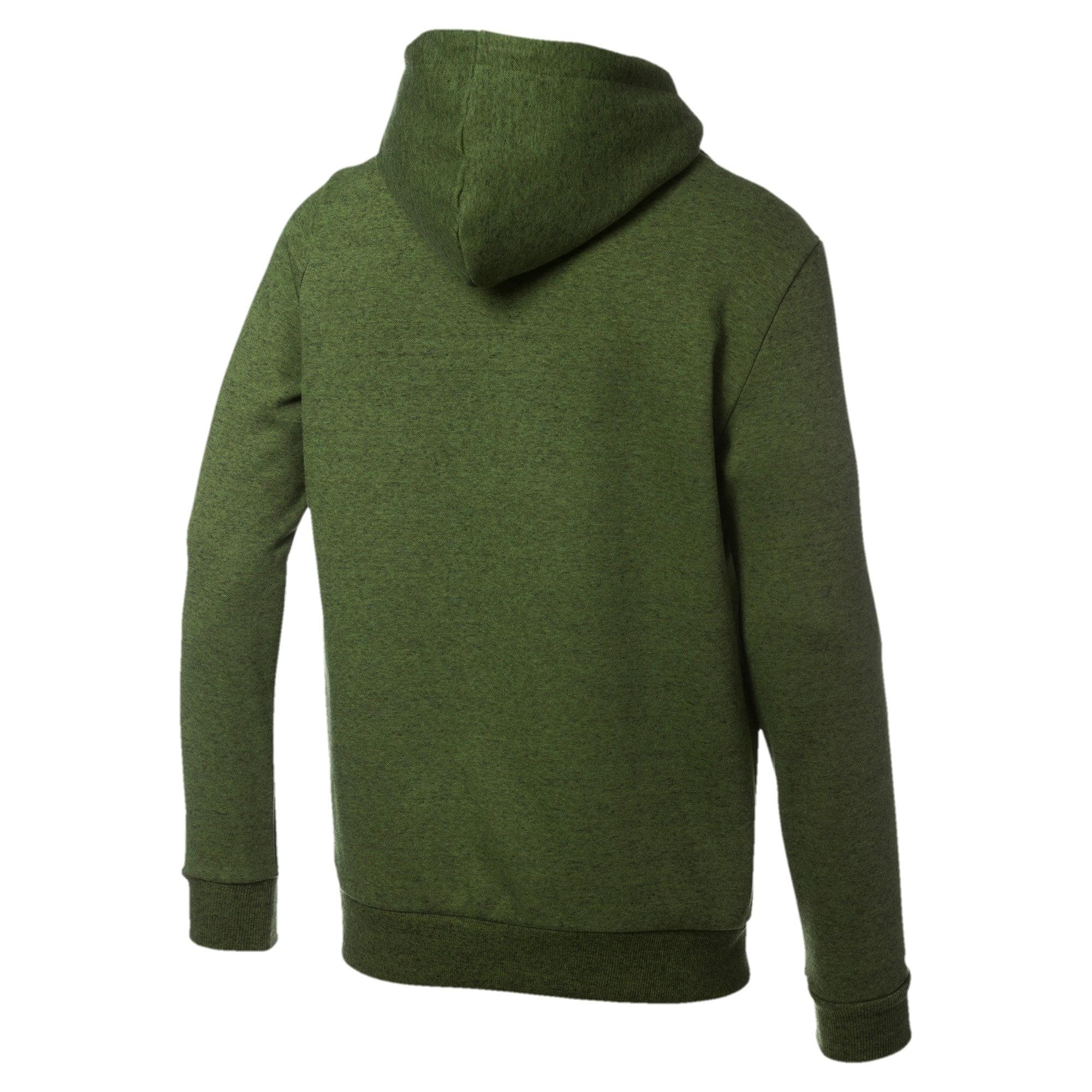 Thumbnail 5 of Essentials+ Men's Fleece Hoodie, Garden Green Heather, medium