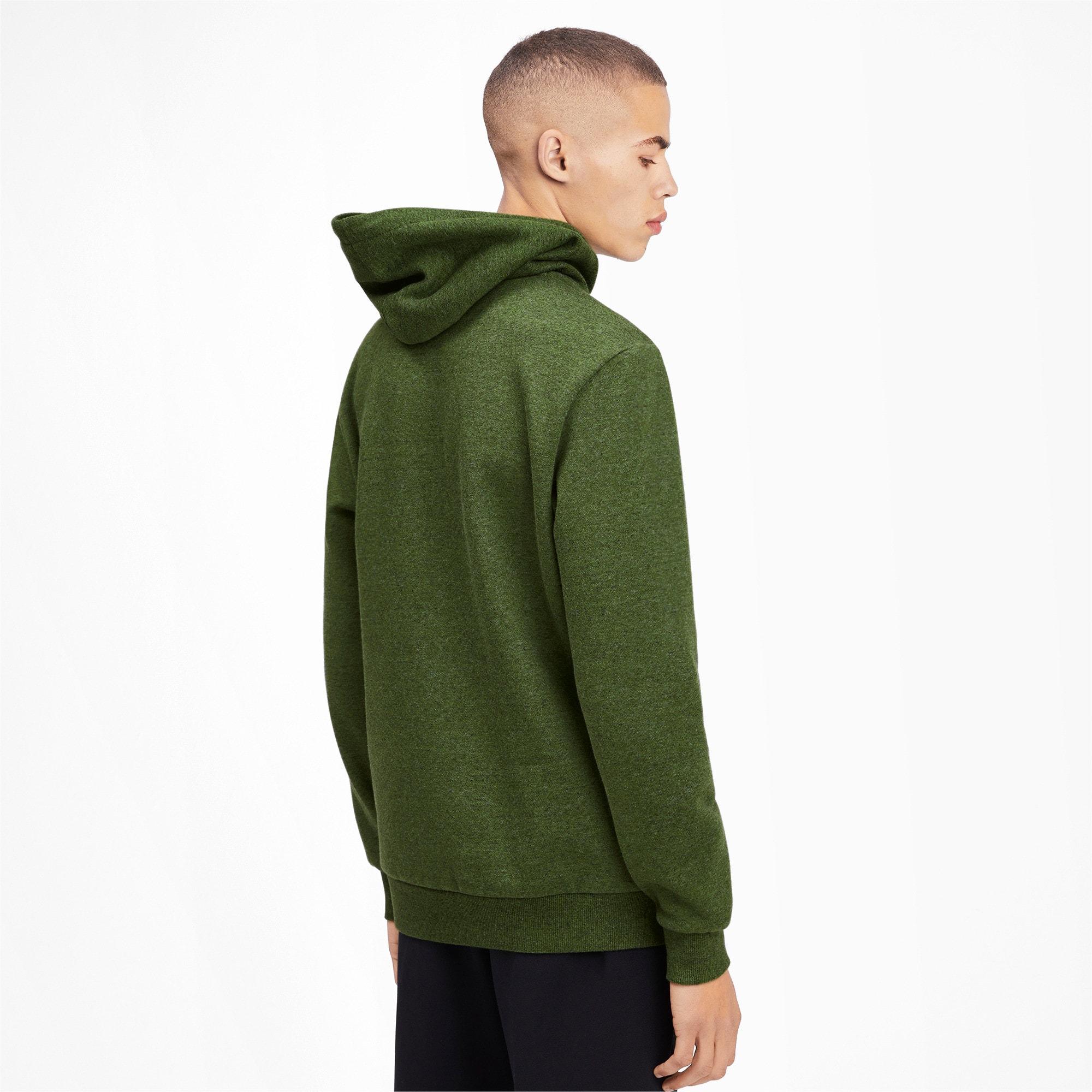 Thumbnail 3 of Essentials+ Men's Fleece Hoodie, Garden Green Heather, medium
