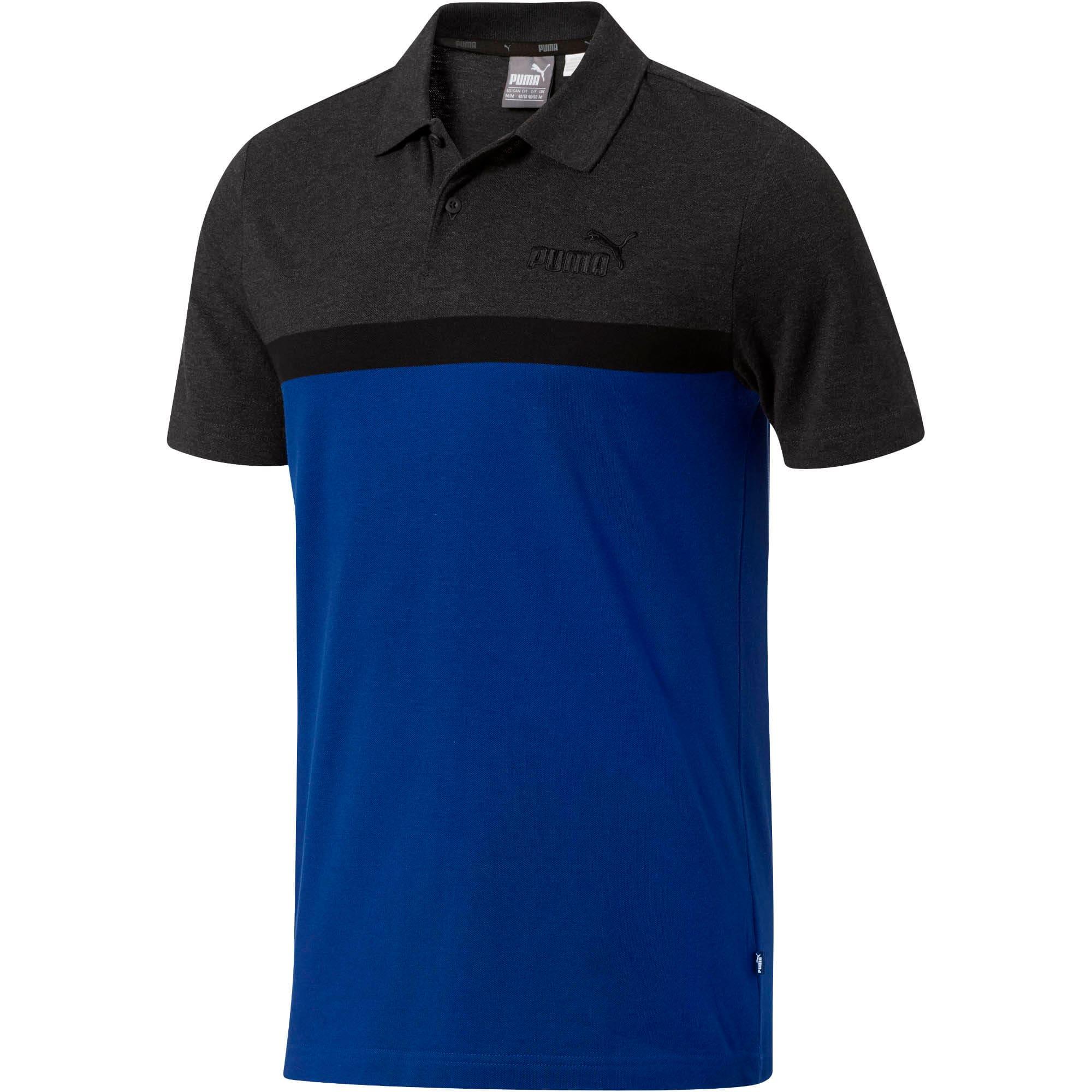 Thumbnail 1 of Essentials+ Stripe Men's Polo, Sodalite Blue, medium