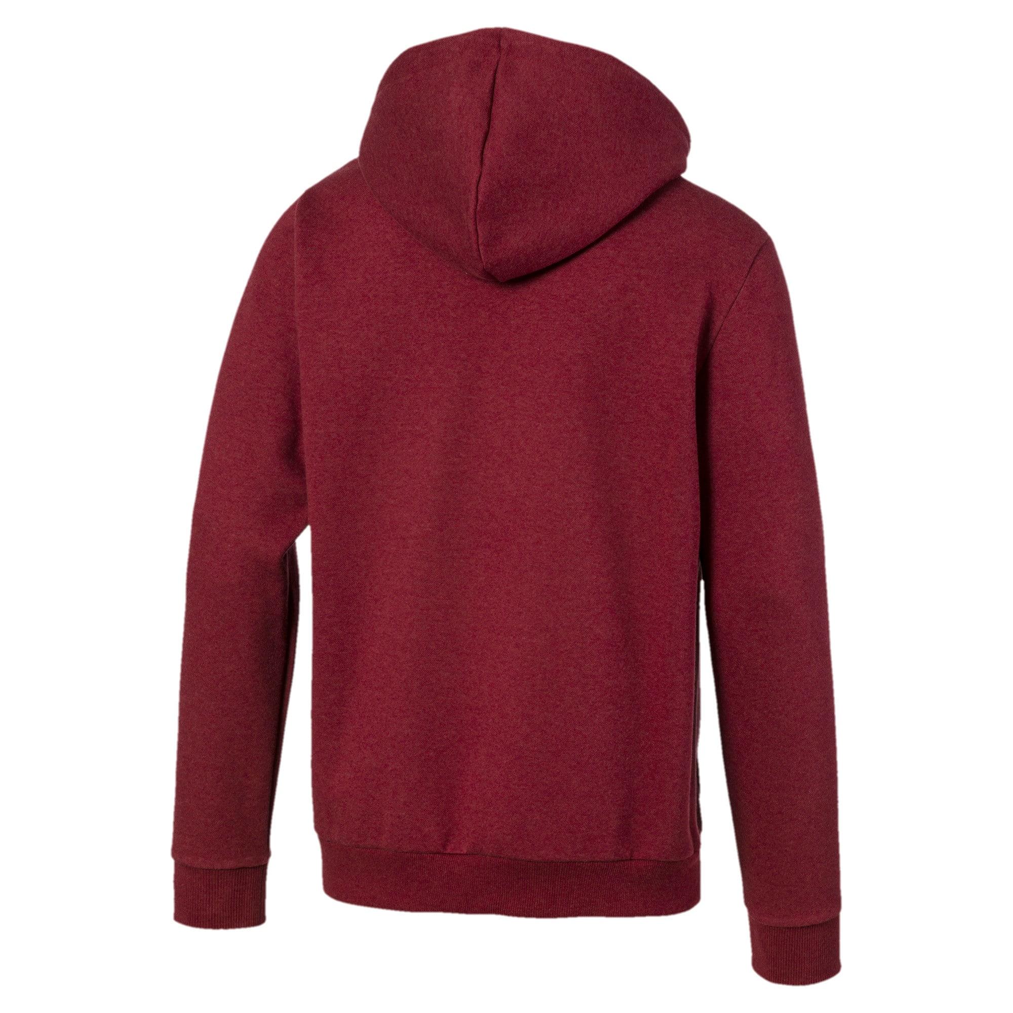 Thumbnail 5 of Essentials+ Men's Fleece Hooded Jacket, Rhubarb Heather, medium