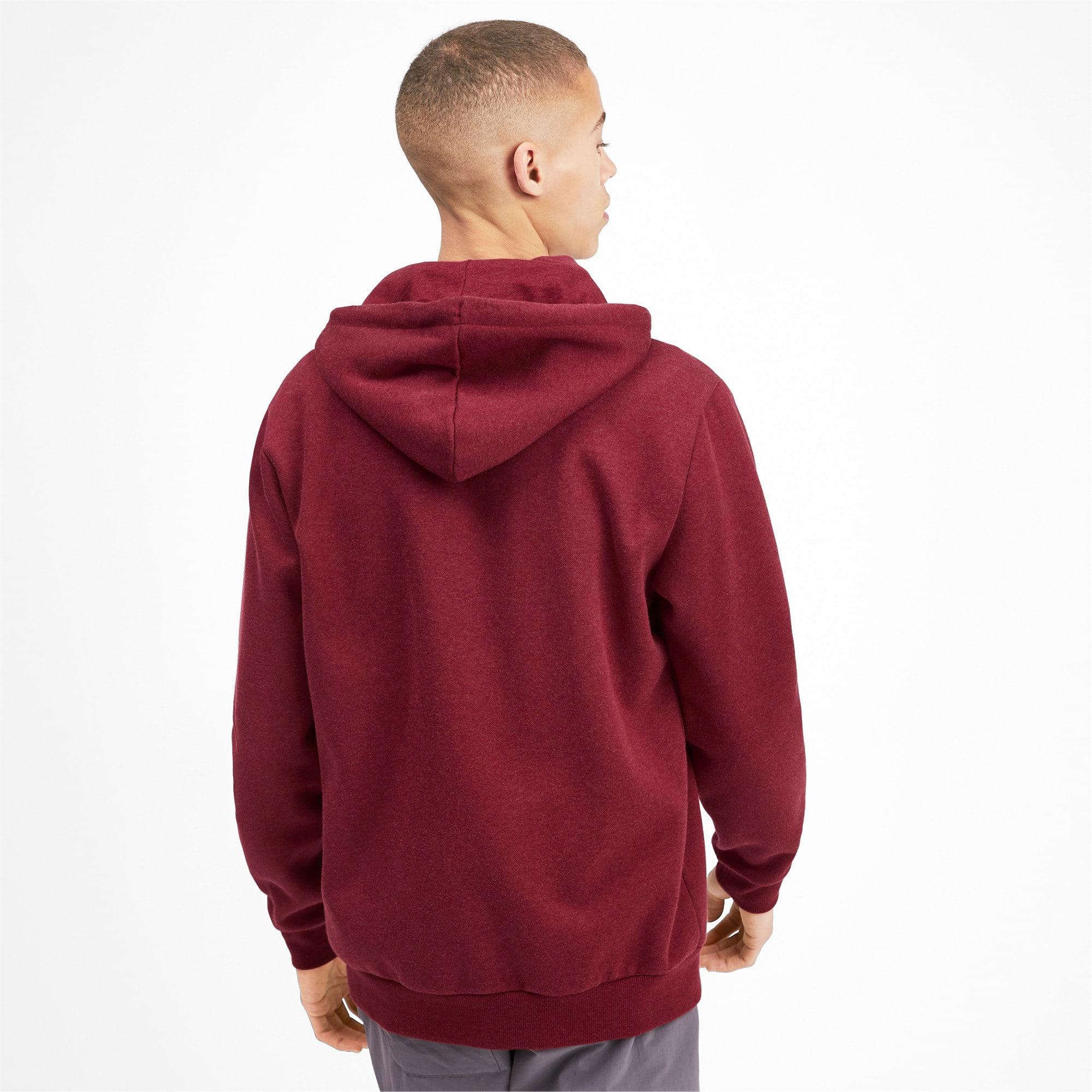 Thumbnail 3 of Essentials+ Men's Fleece Hooded Jacket, Rhubarb Heather, medium