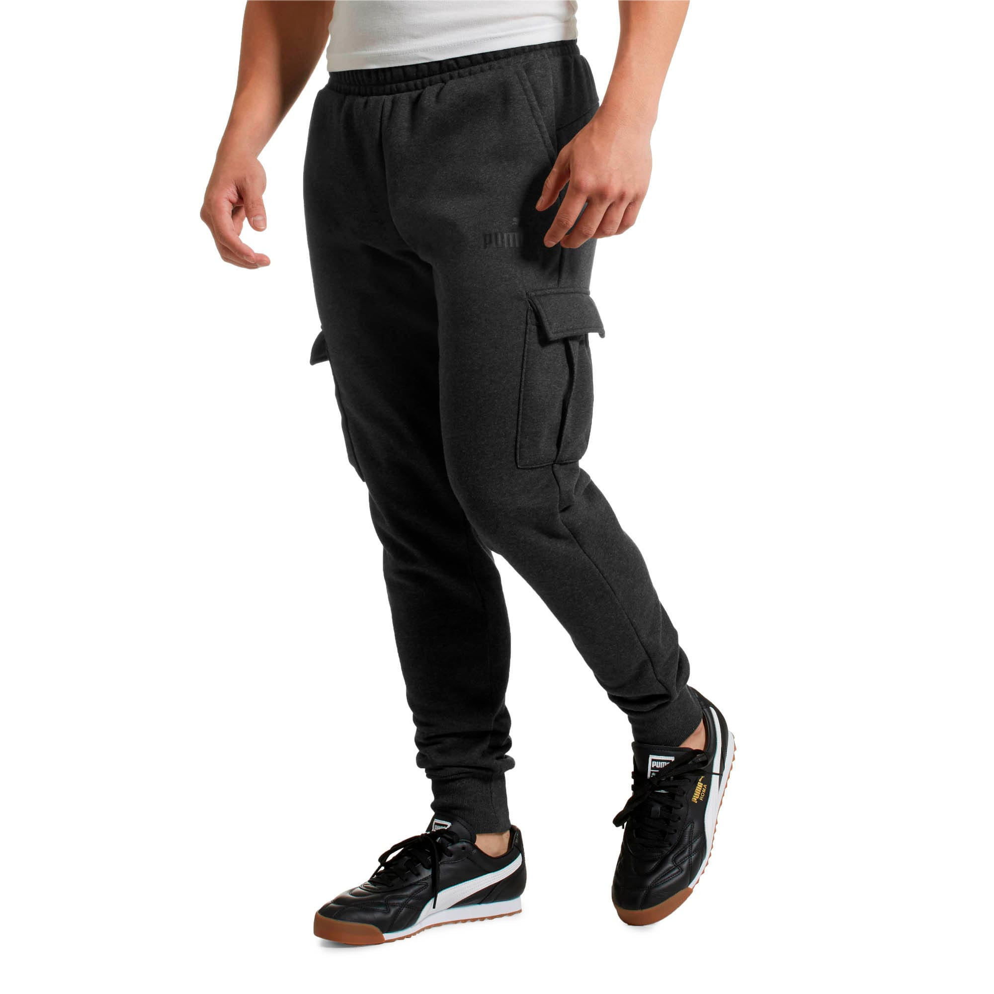 Miniatura 2 de Pantalones Essentials+ con bolsillos para hombre, Dark Gray Heather, mediano