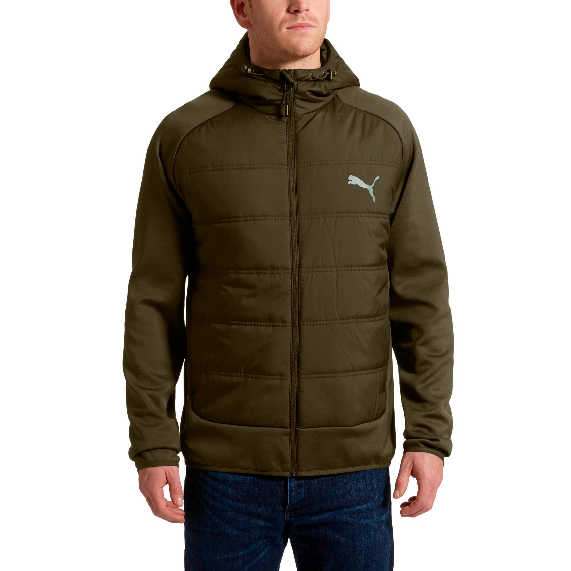 Thumbnail 2 of Hybrid Men's Padded Jacket, Forest Night, medium