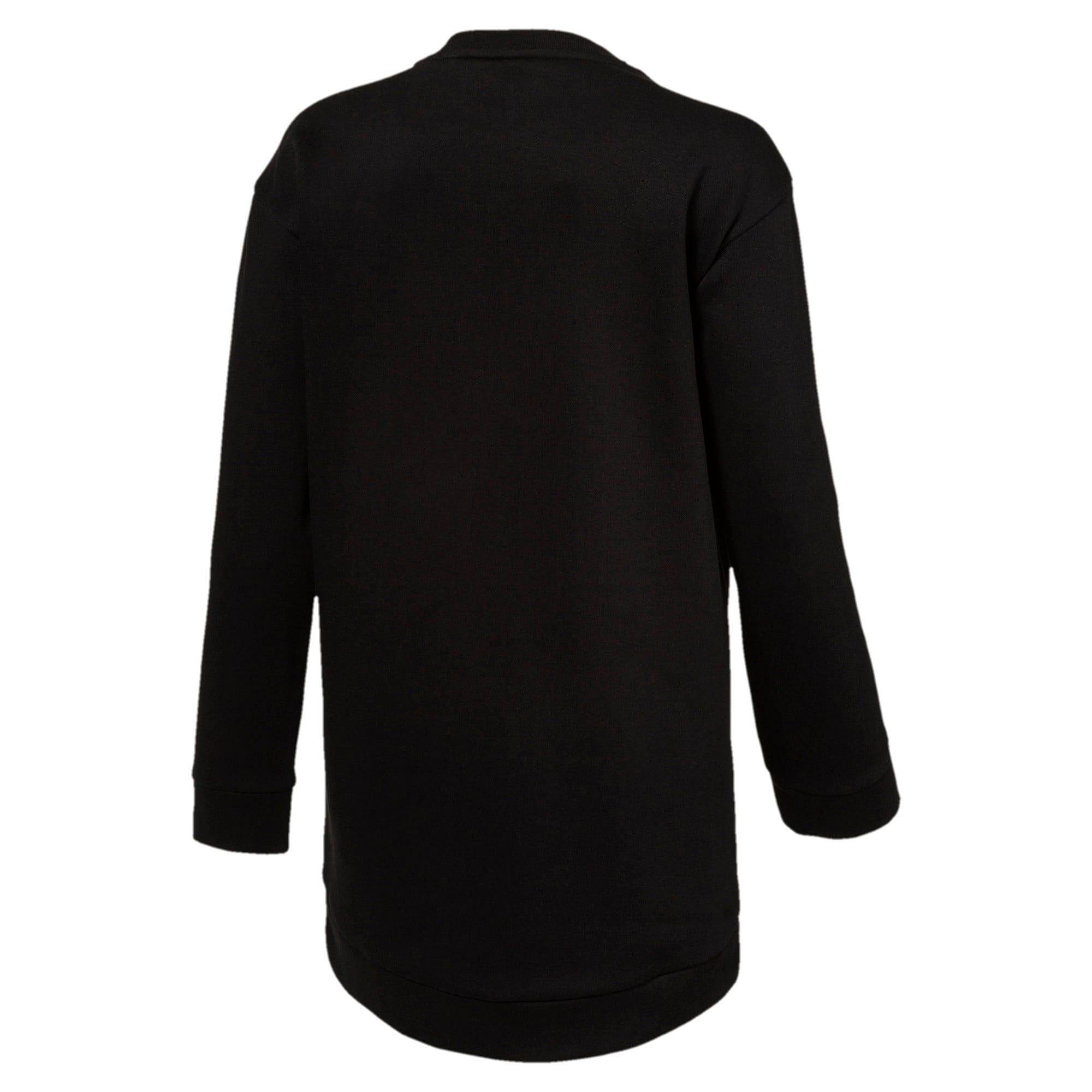 Thumbnail 2 of Style Girls' Long Crew Sweater JR, Cotton Black, medium