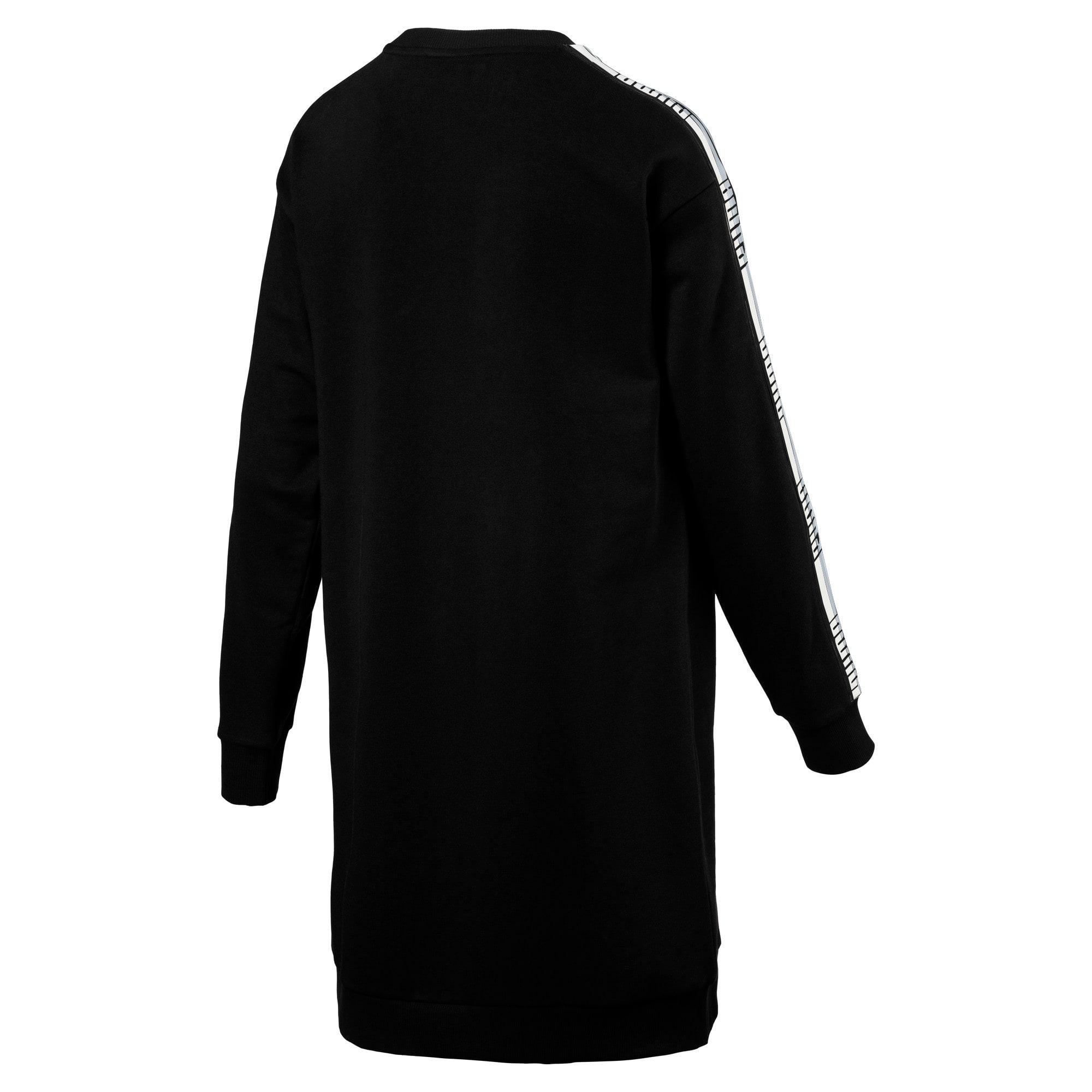 Thumbnail 3 of Tape Terry Women's Dress, Cotton Black, medium