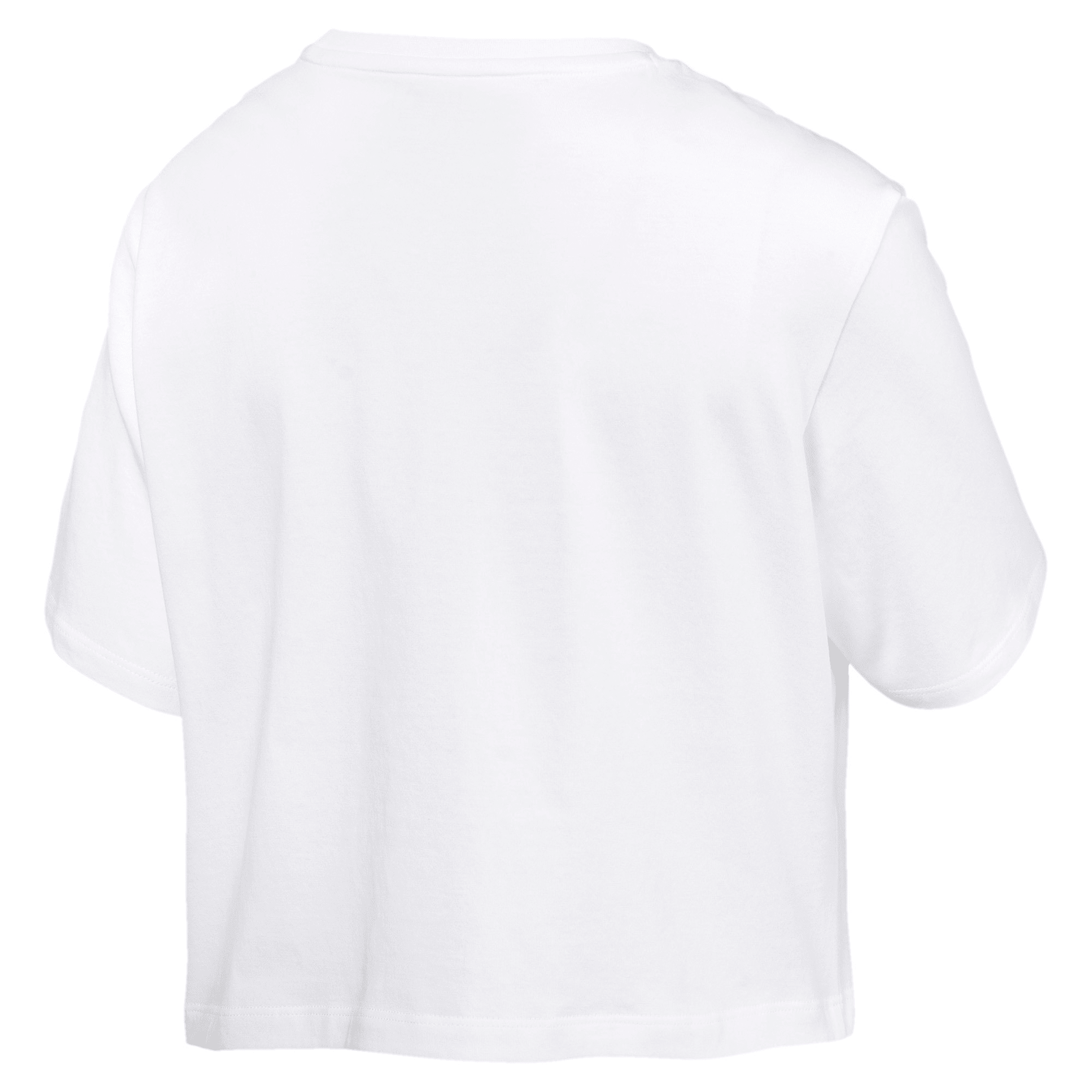 Thumbnail 5 of Damen Cropped Logo T-Shirt, Puma White, medium