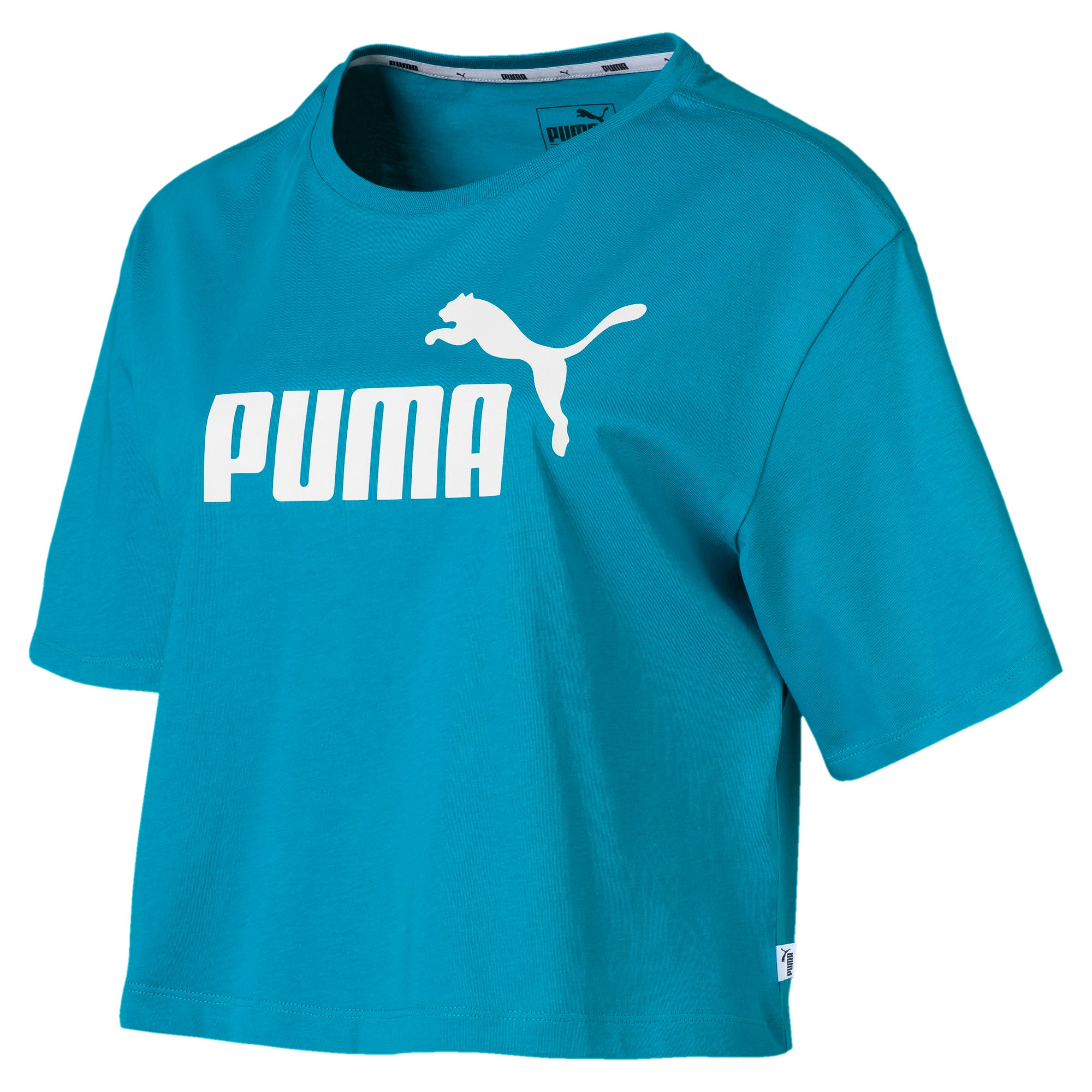 Miniatura 1 de Camiseta corta con logo para mujer, Caribbean Sea, mediano