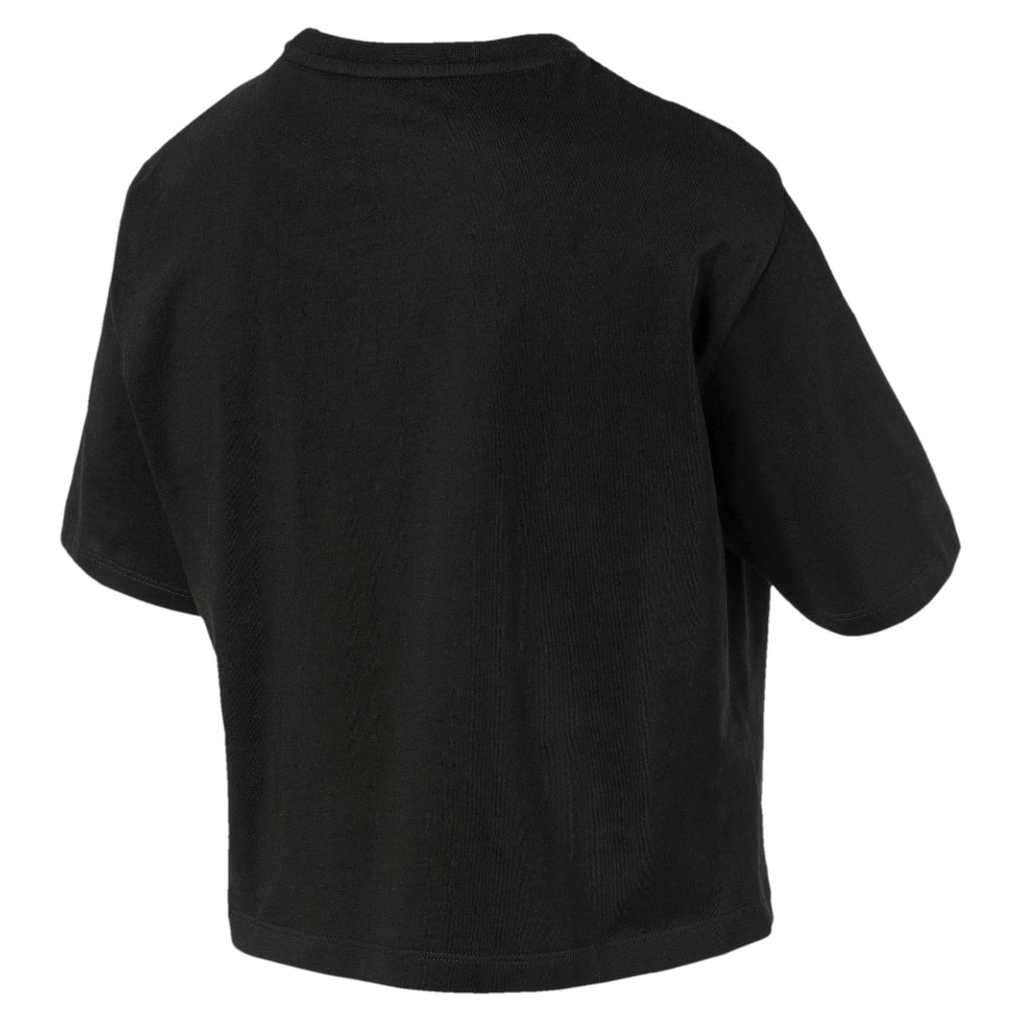 Miniatura 5 de Camiseta corta con logo para mujer, Puma Black, mediano