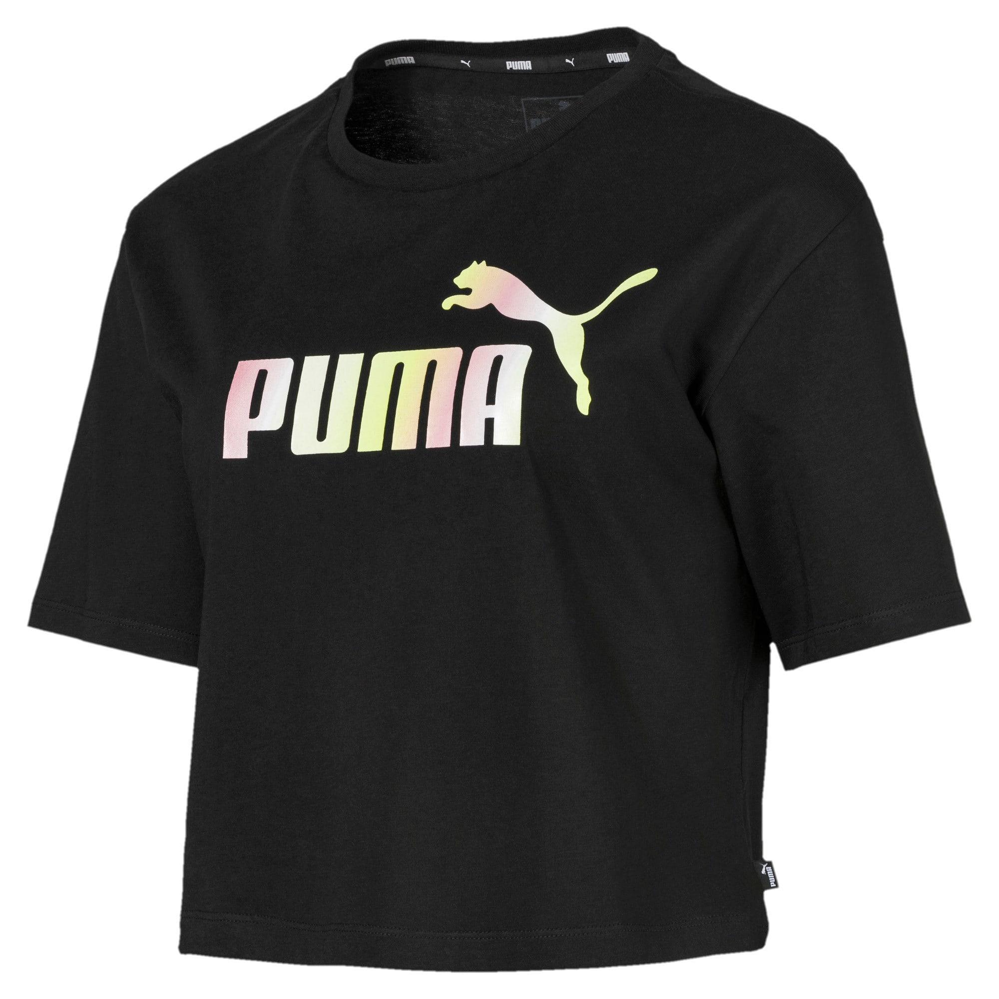 Miniatura 4 de Camiseta corta con logo para mujer, Puma Black, mediano