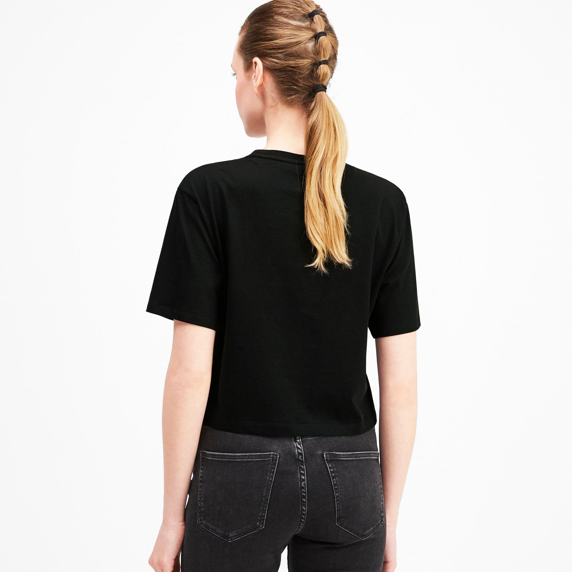 Miniatura 2 de Camiseta corta con logo para mujer, Puma Black, mediano