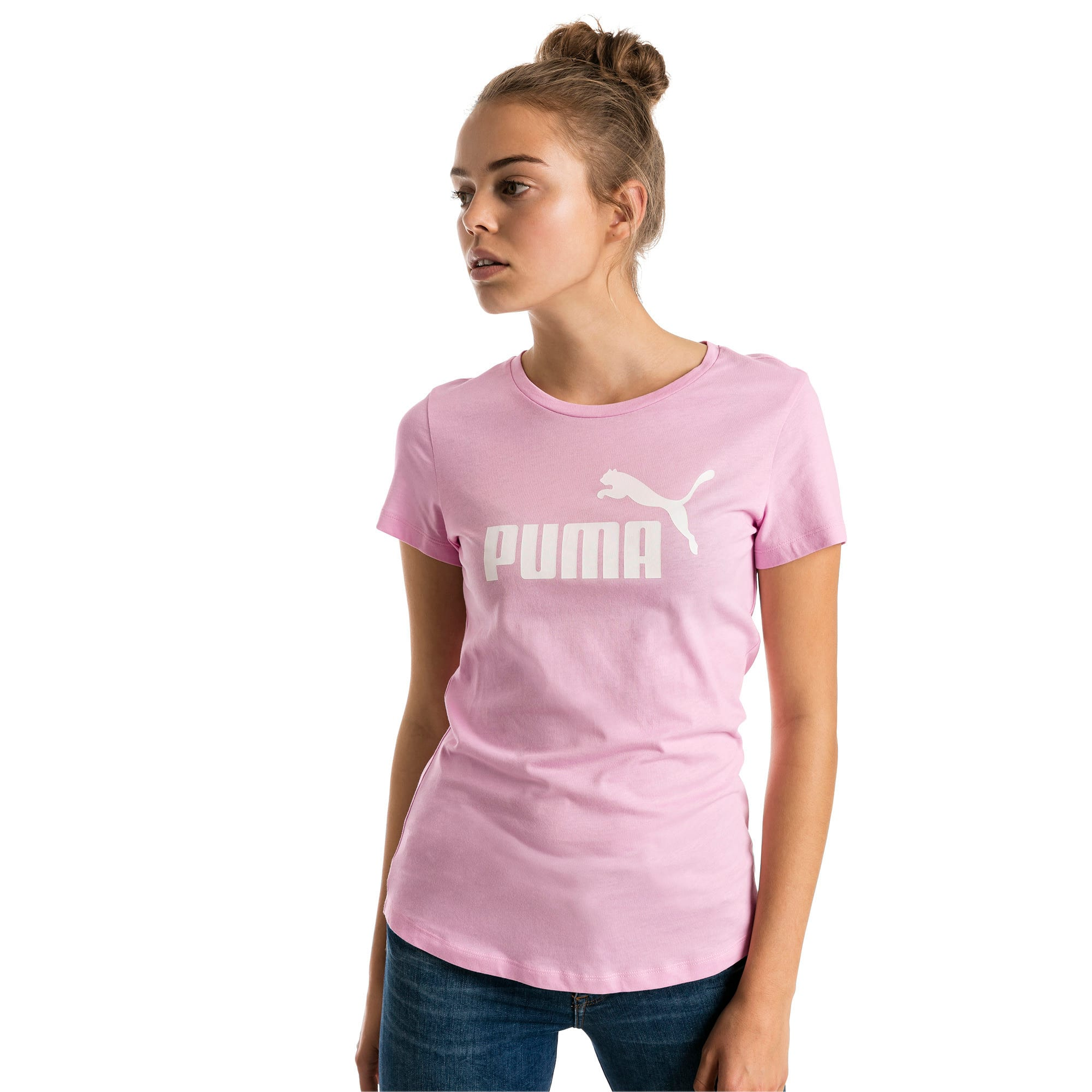Thumbnail 1 of Essentials Damen T-Shirt, Pale Pink, medium