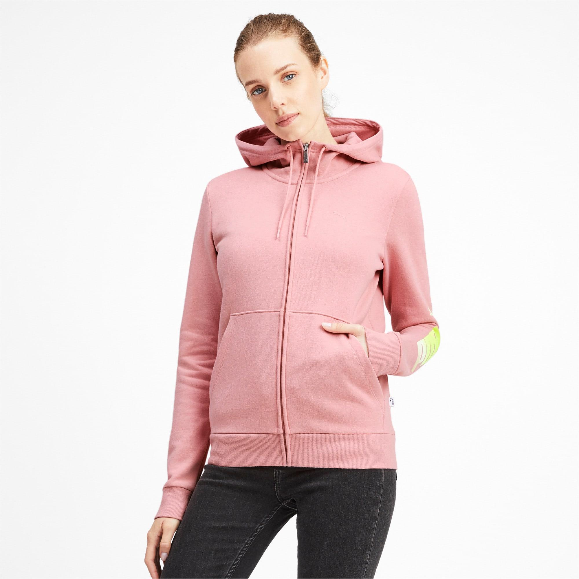 Thumbnail 2 of Essentials Women's Hooded Fleece Jacket, Bridal Rose, medium