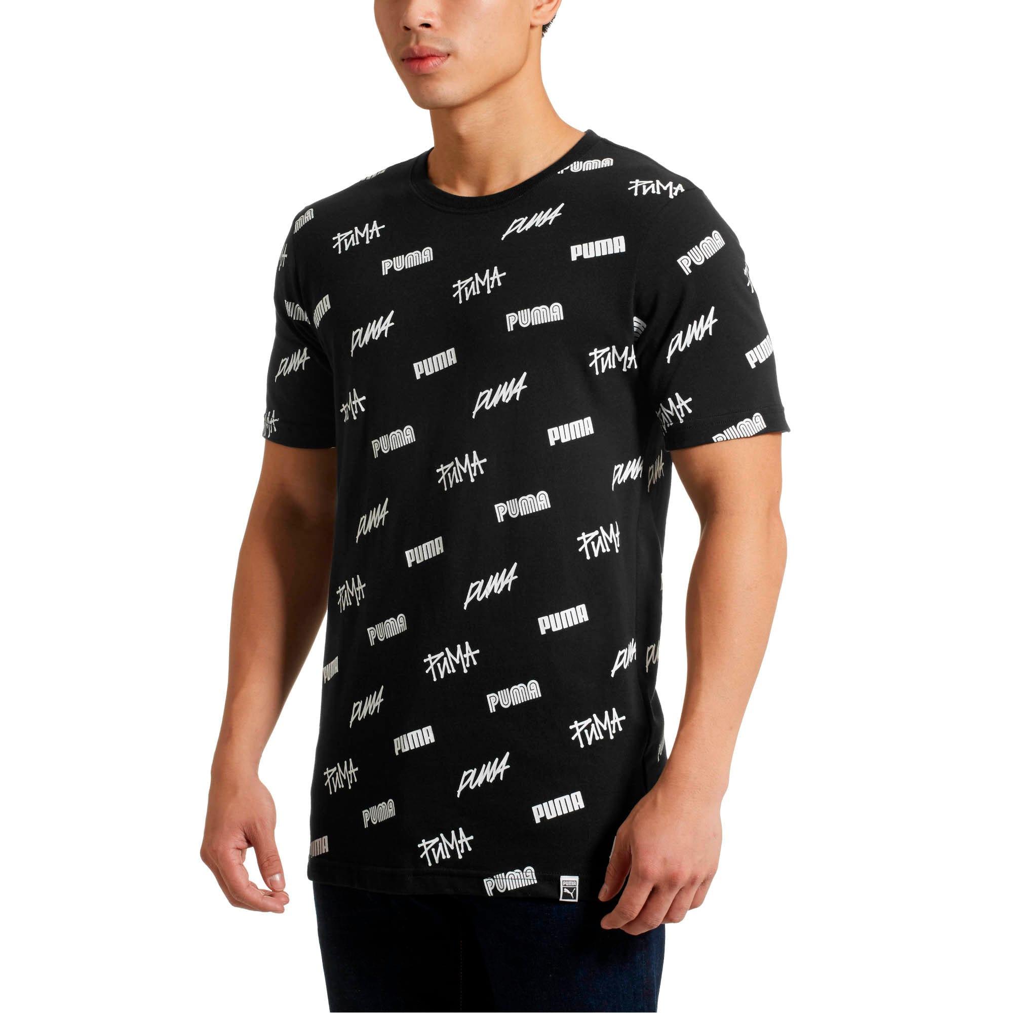 Thumbnail 2 of All Over SS T-Shirt, Puma Black-White, medium