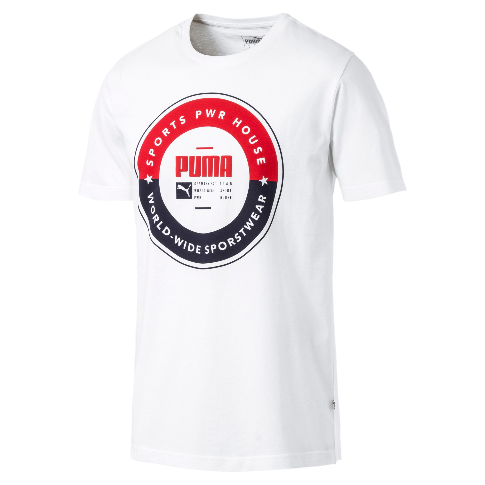 Thumbnail 1 of PUMA SP Execution Tee, Puma White, medium