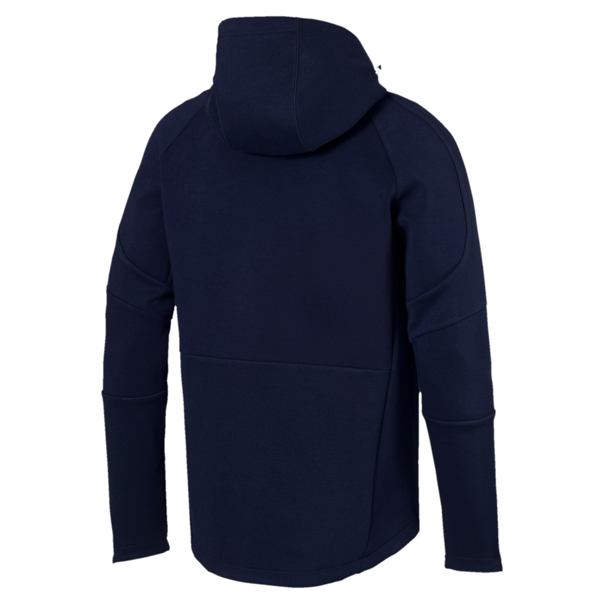 Thumbnail 3 of Evostripe Move Hooded Jacket, Peacoat, medium
